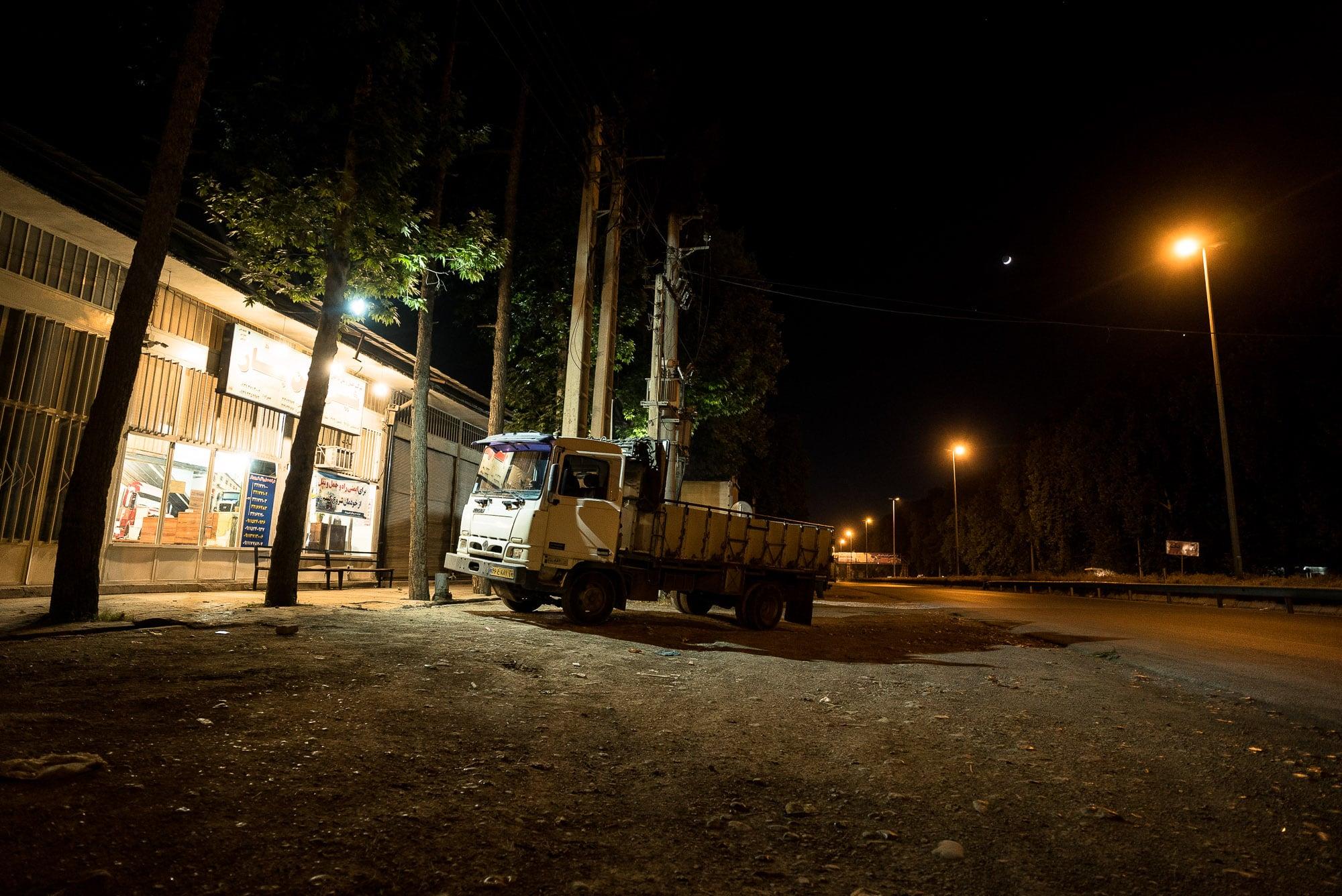 entering Gorgan at night