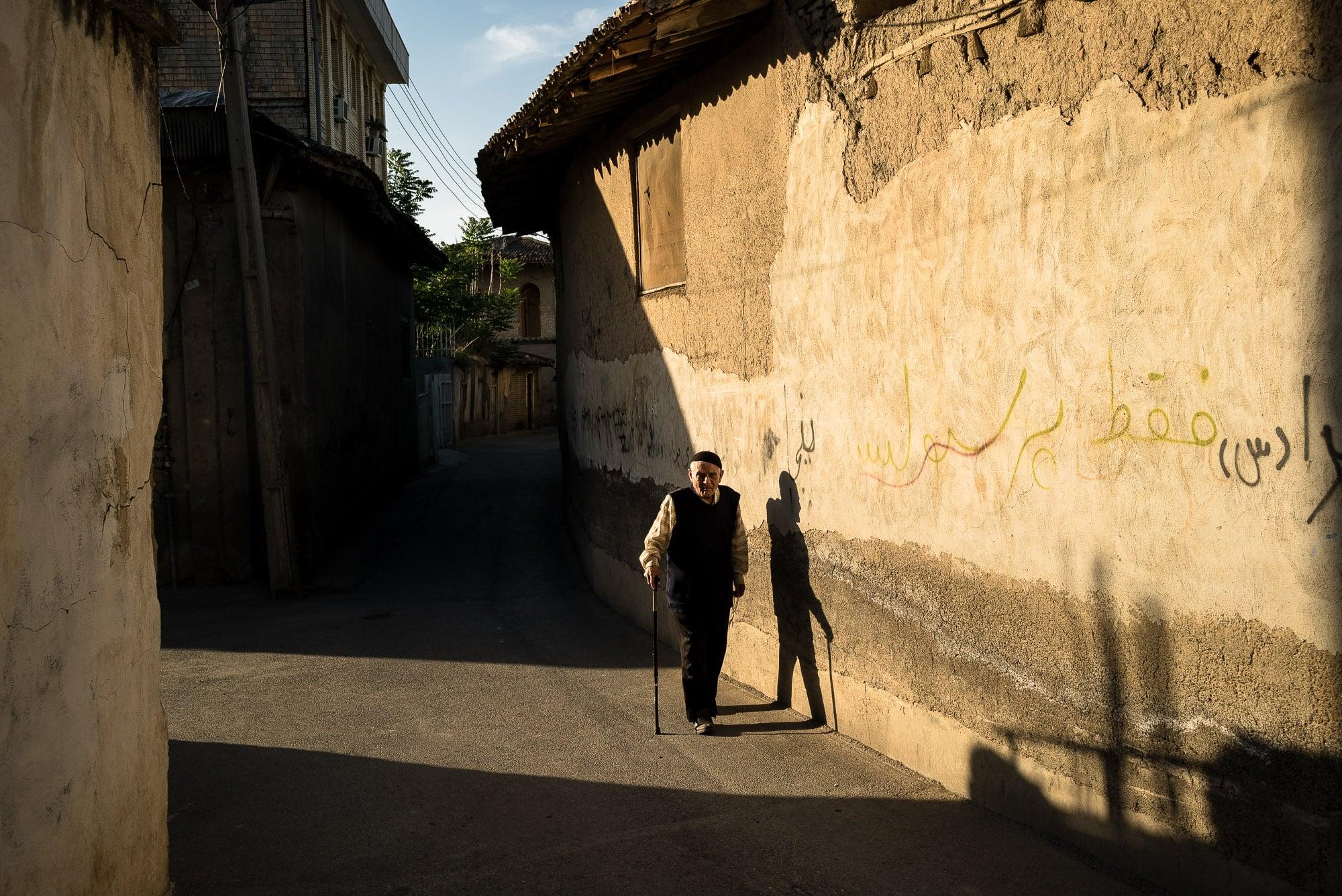 back alley in Gorgan