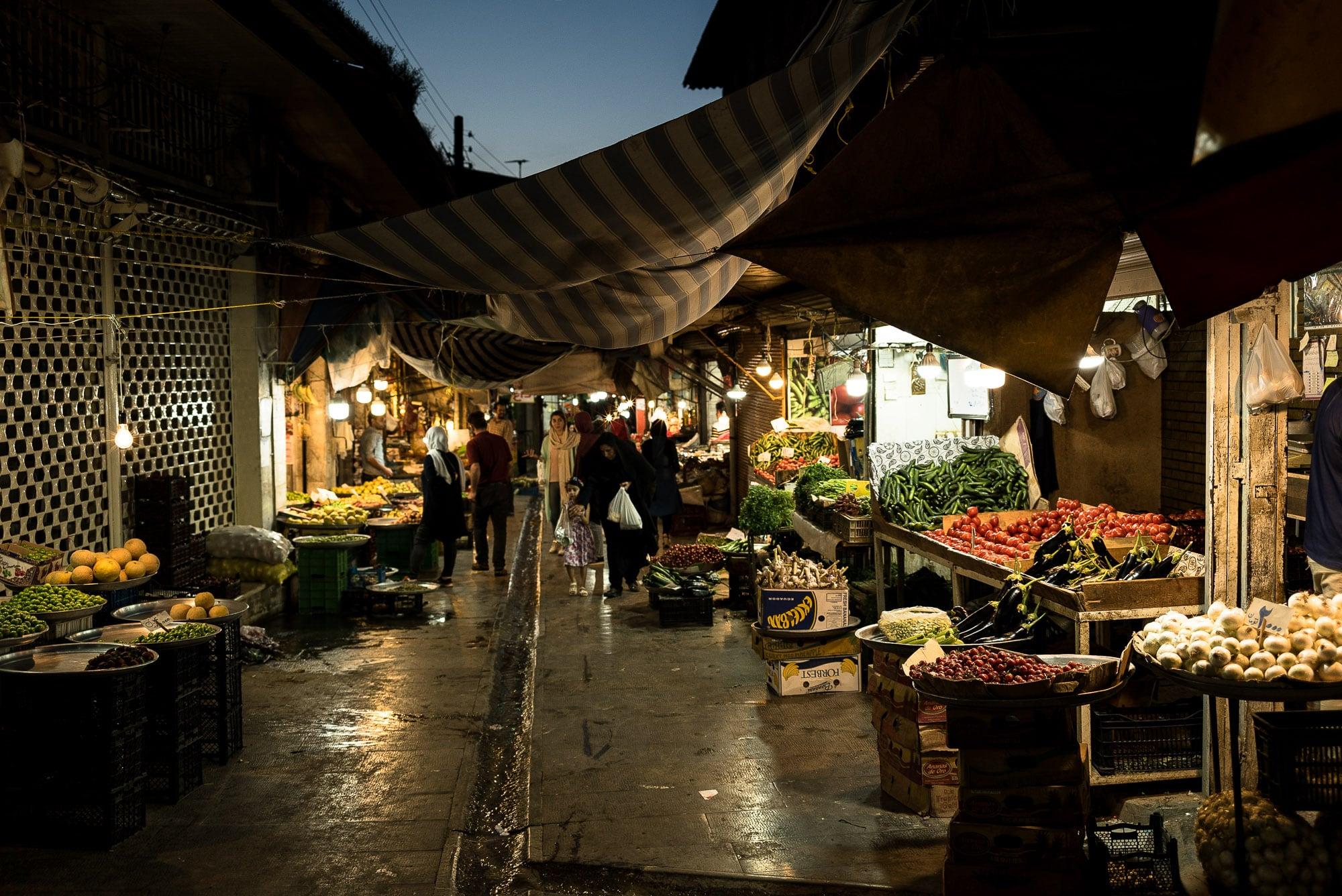 Gorgan bazaar at nightfall
