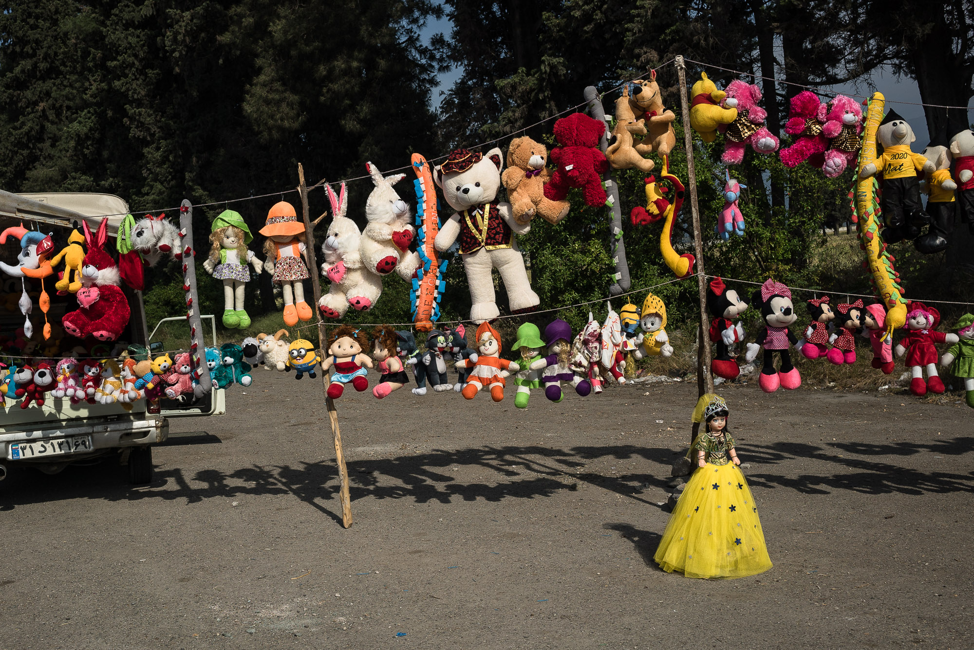 toys for sale on the roadside