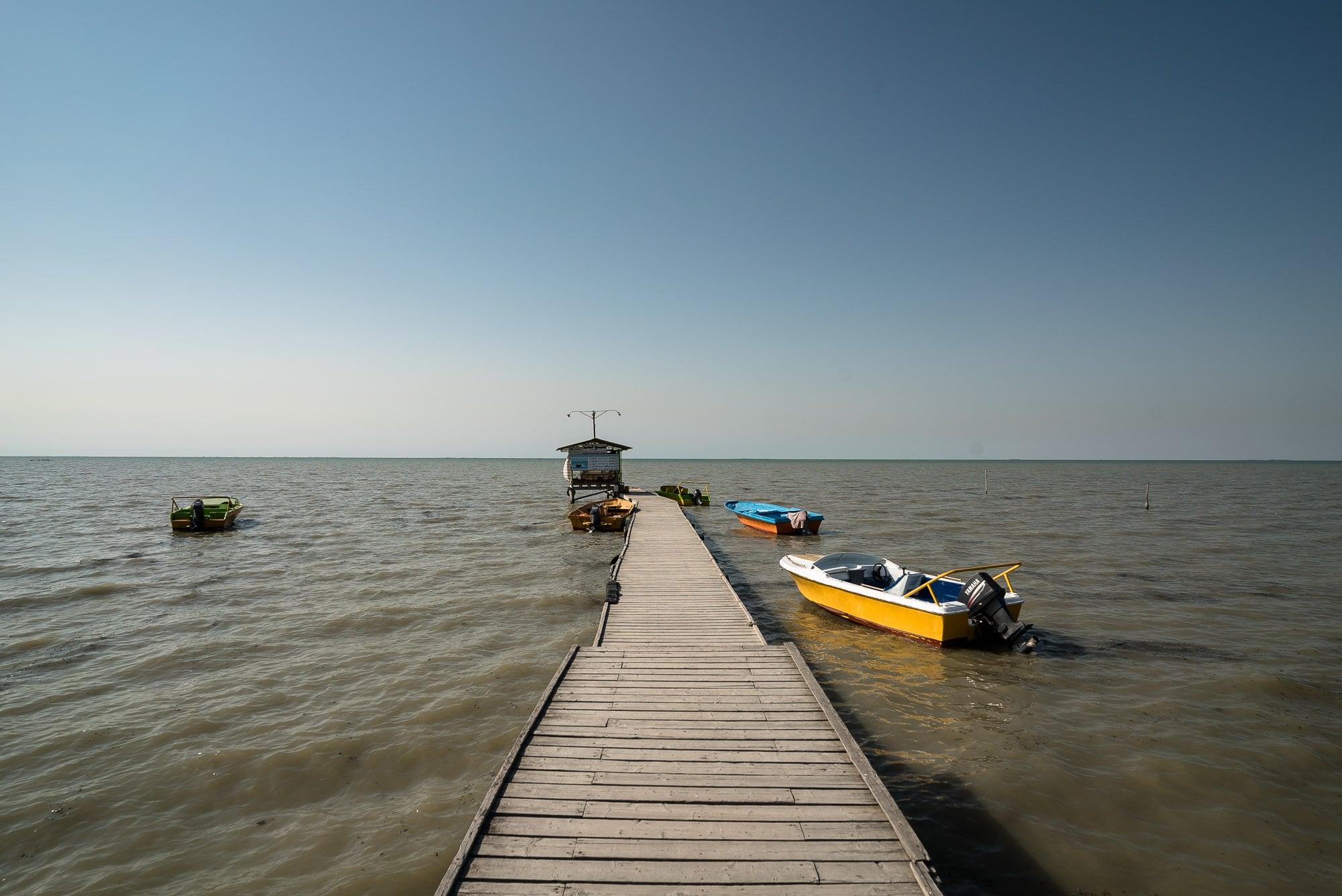 pier into the Caspian Sea