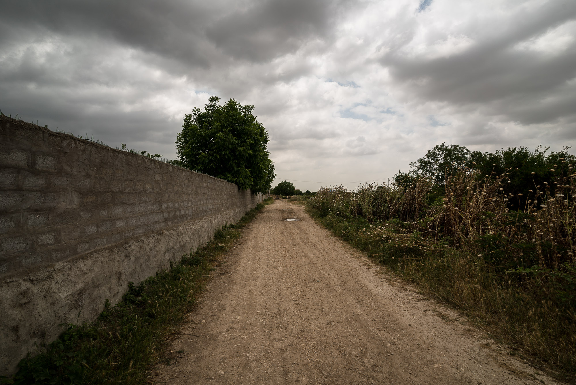 road through the villages