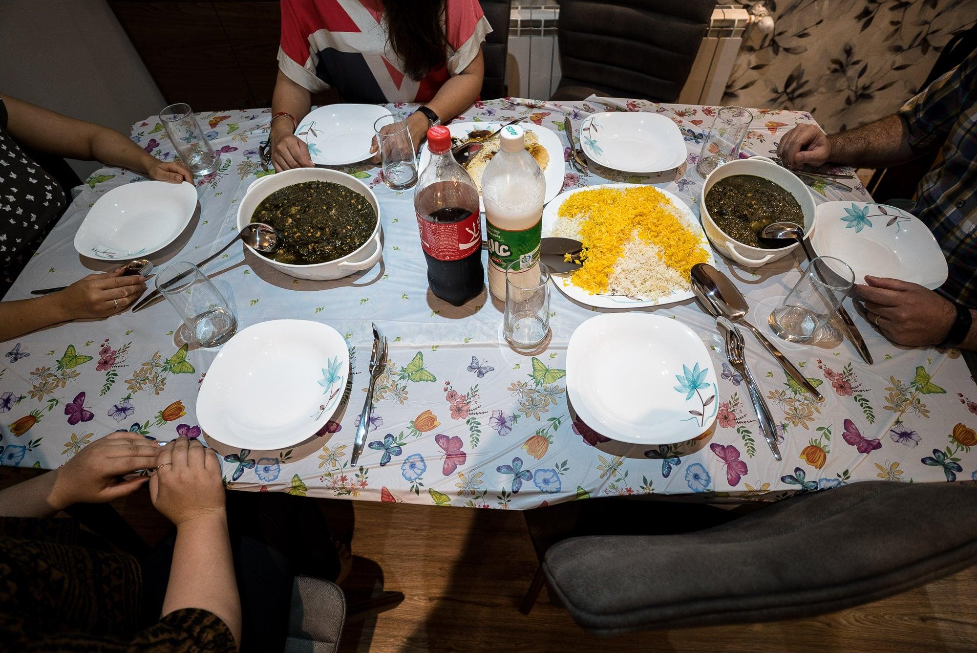 dinner in Sari