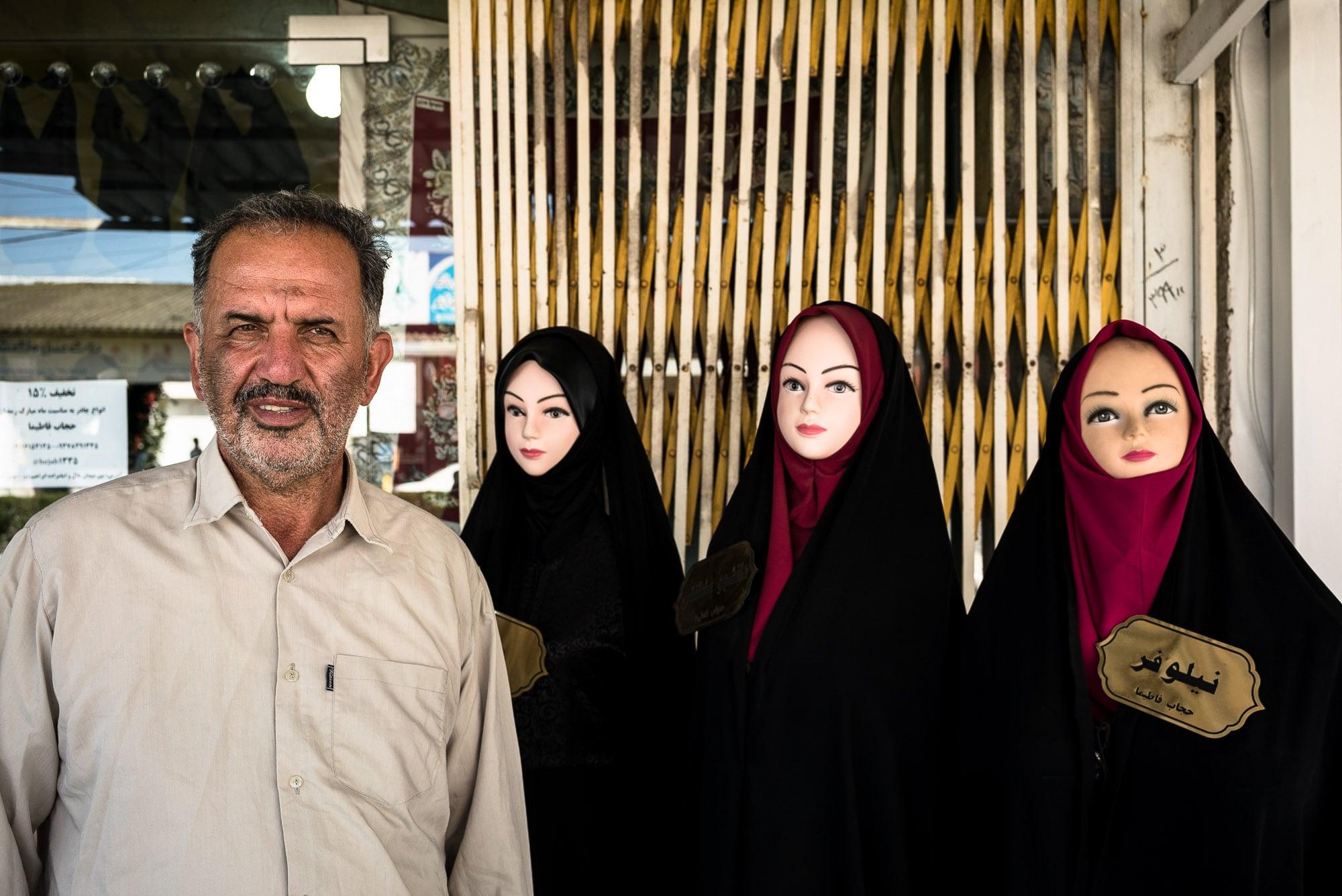 chador shop owner