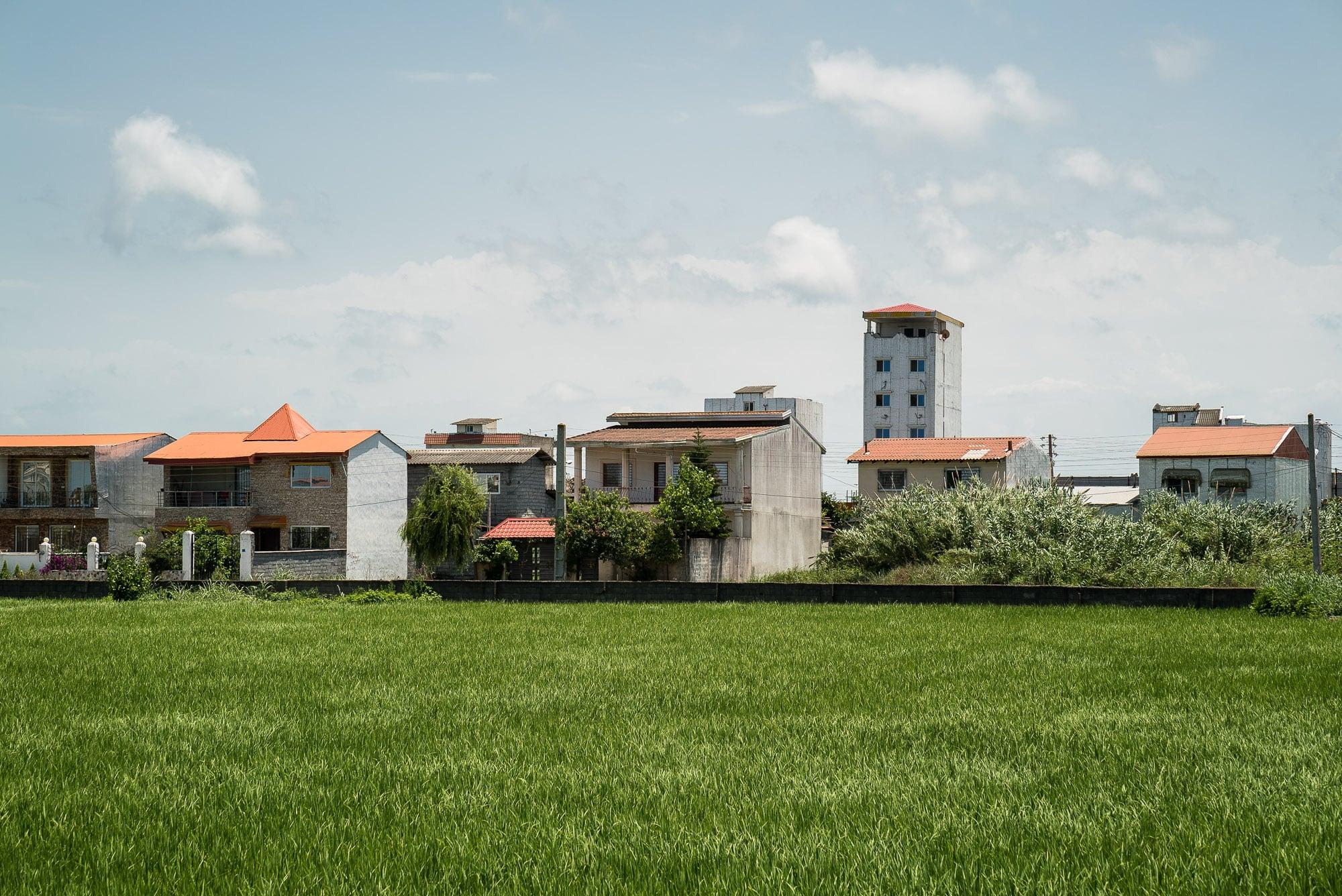 houses on the Caspian Sea coast