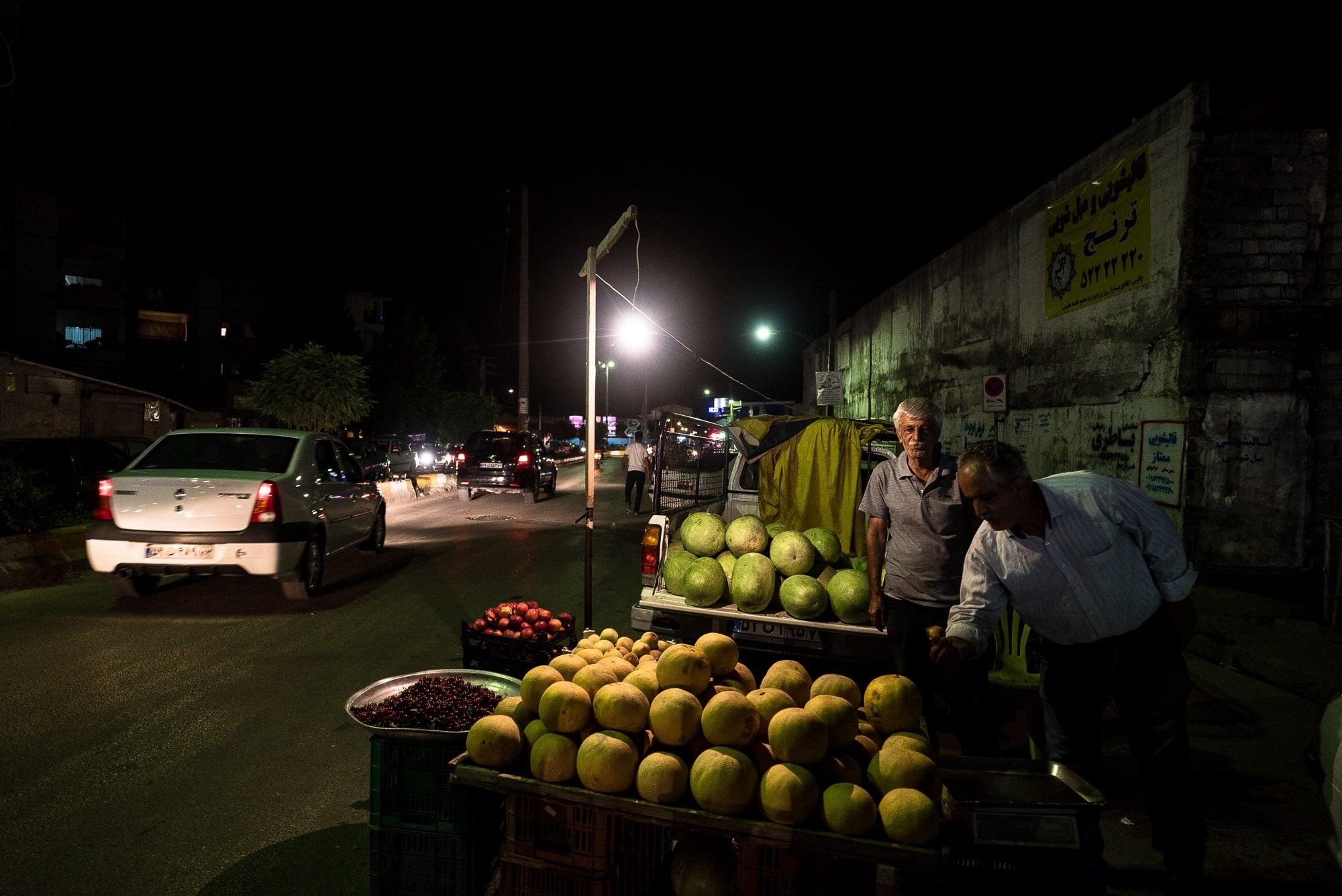 melon vendors in Chalus