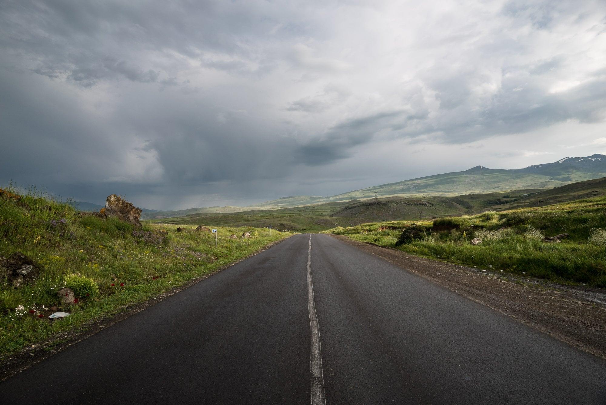 road in Armenia