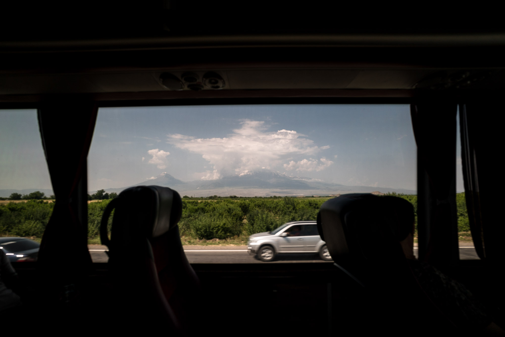 Mount Ararat from the bus window