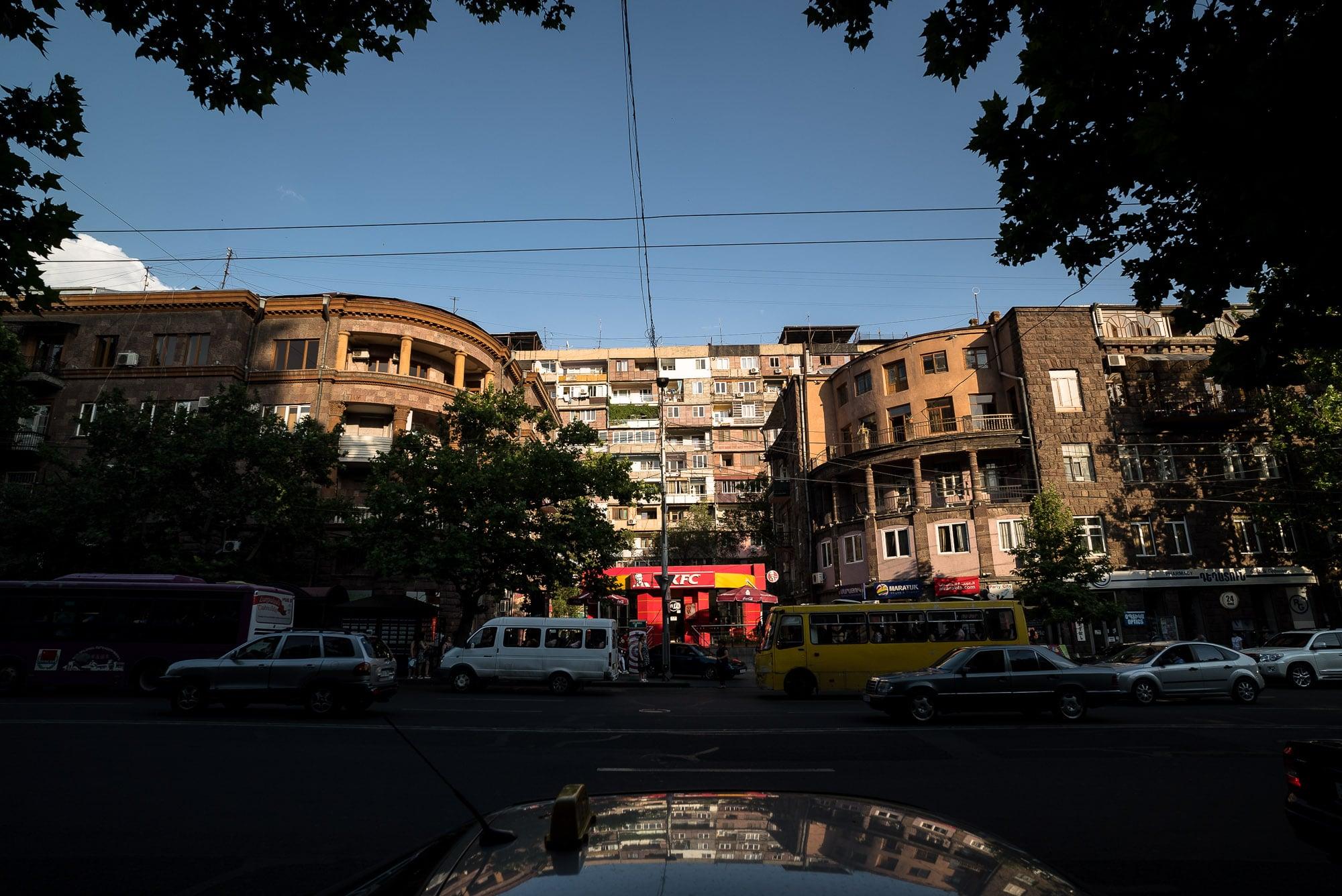 street scene in Yerevan