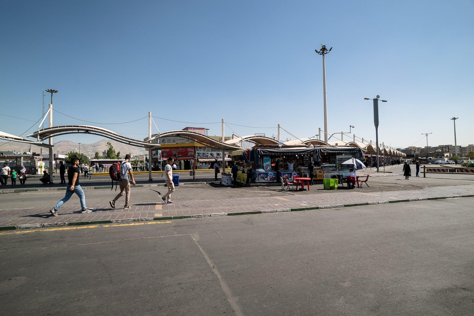 bus terminal in Tehran
