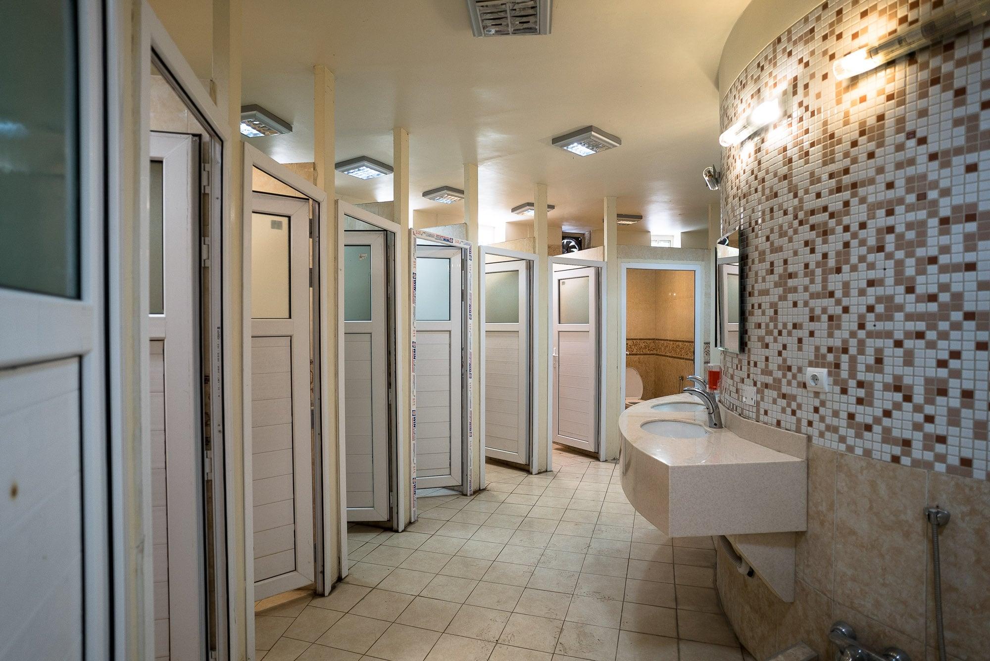 men's room in Iran