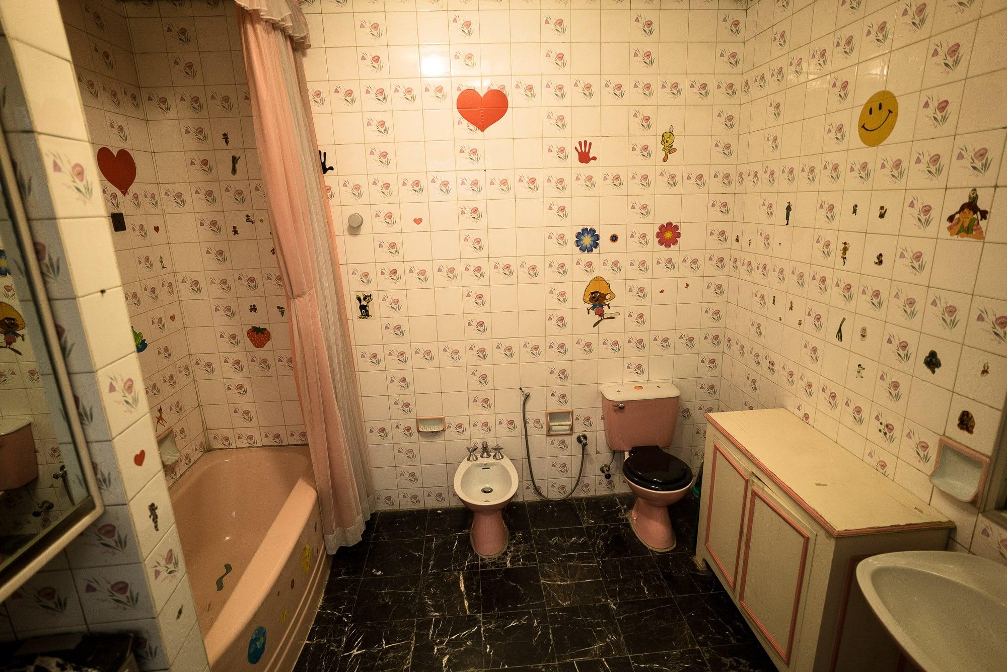 kid's bathroom in Niavaran Palace