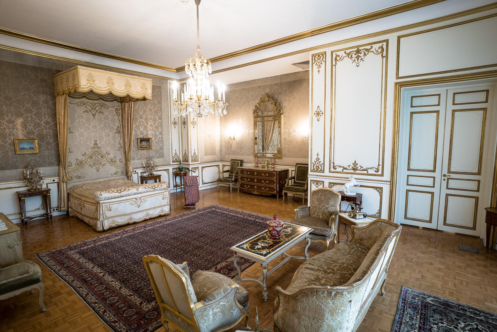 Shah's bedroom in Niavaran Palace