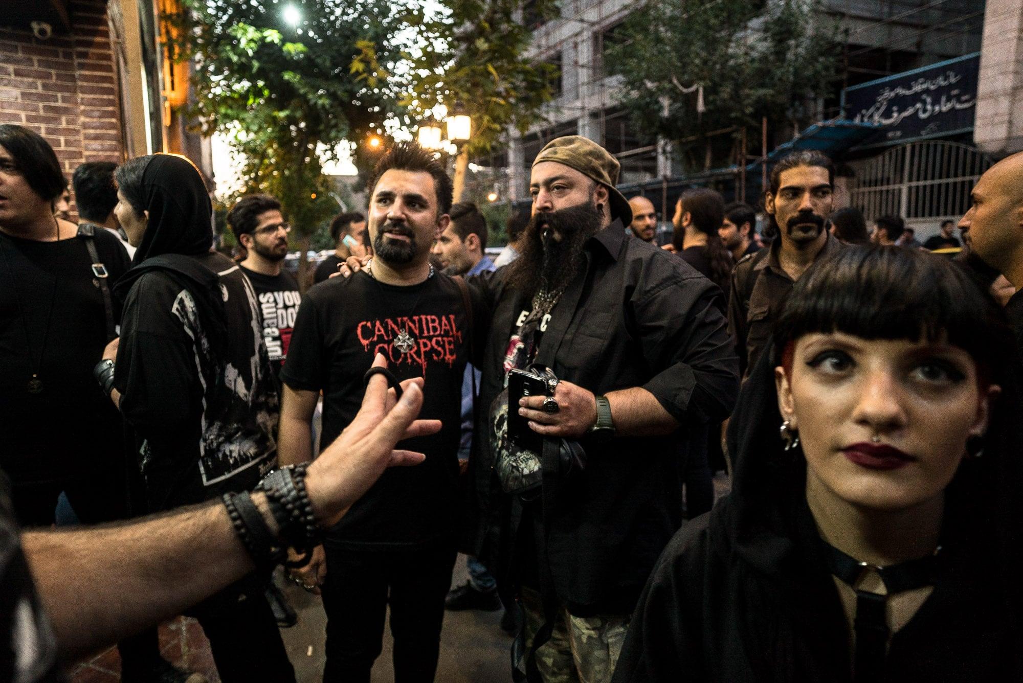 metal fans in Tehran
