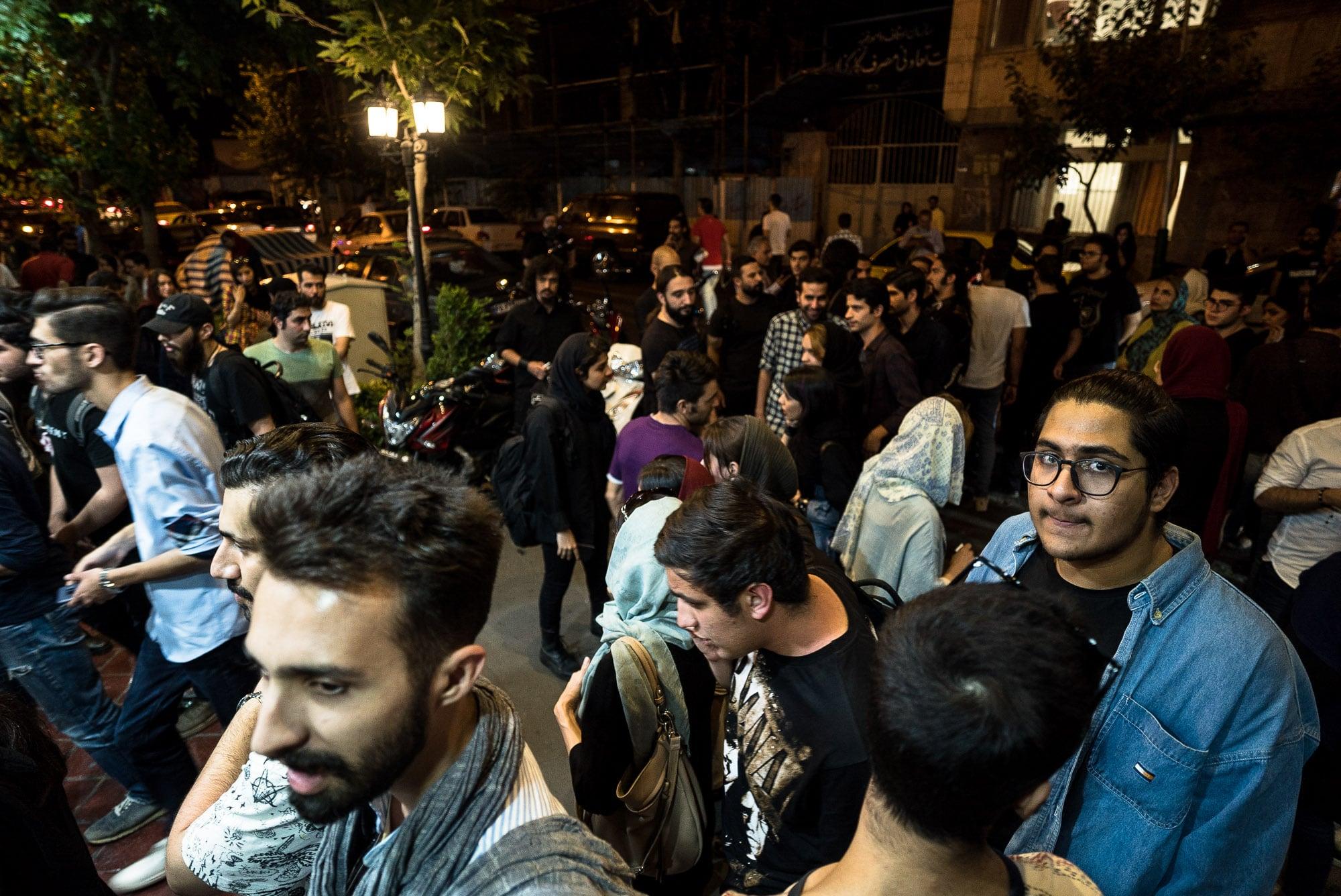 metal crowd in Tehran