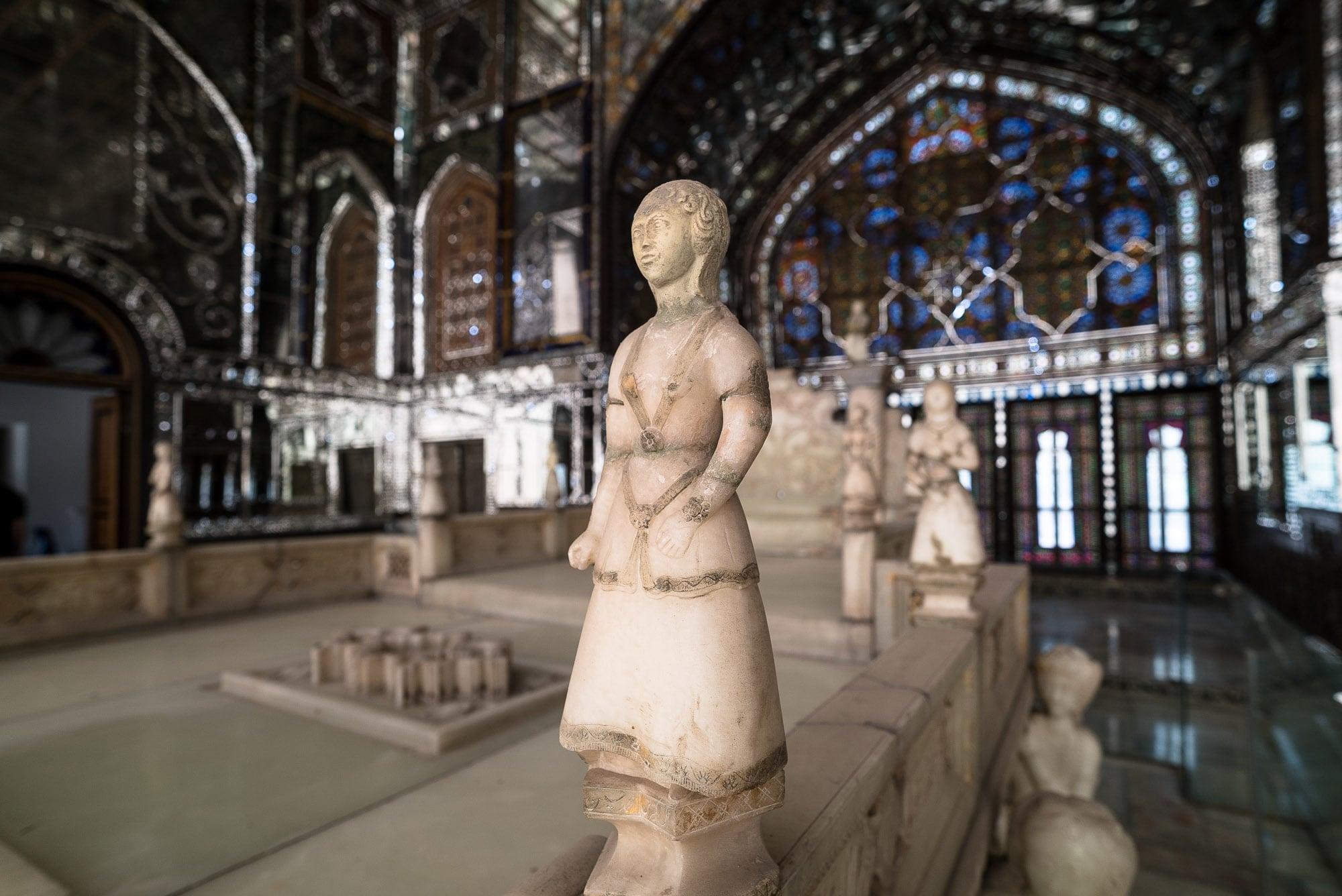 Golestan Palace throne detail