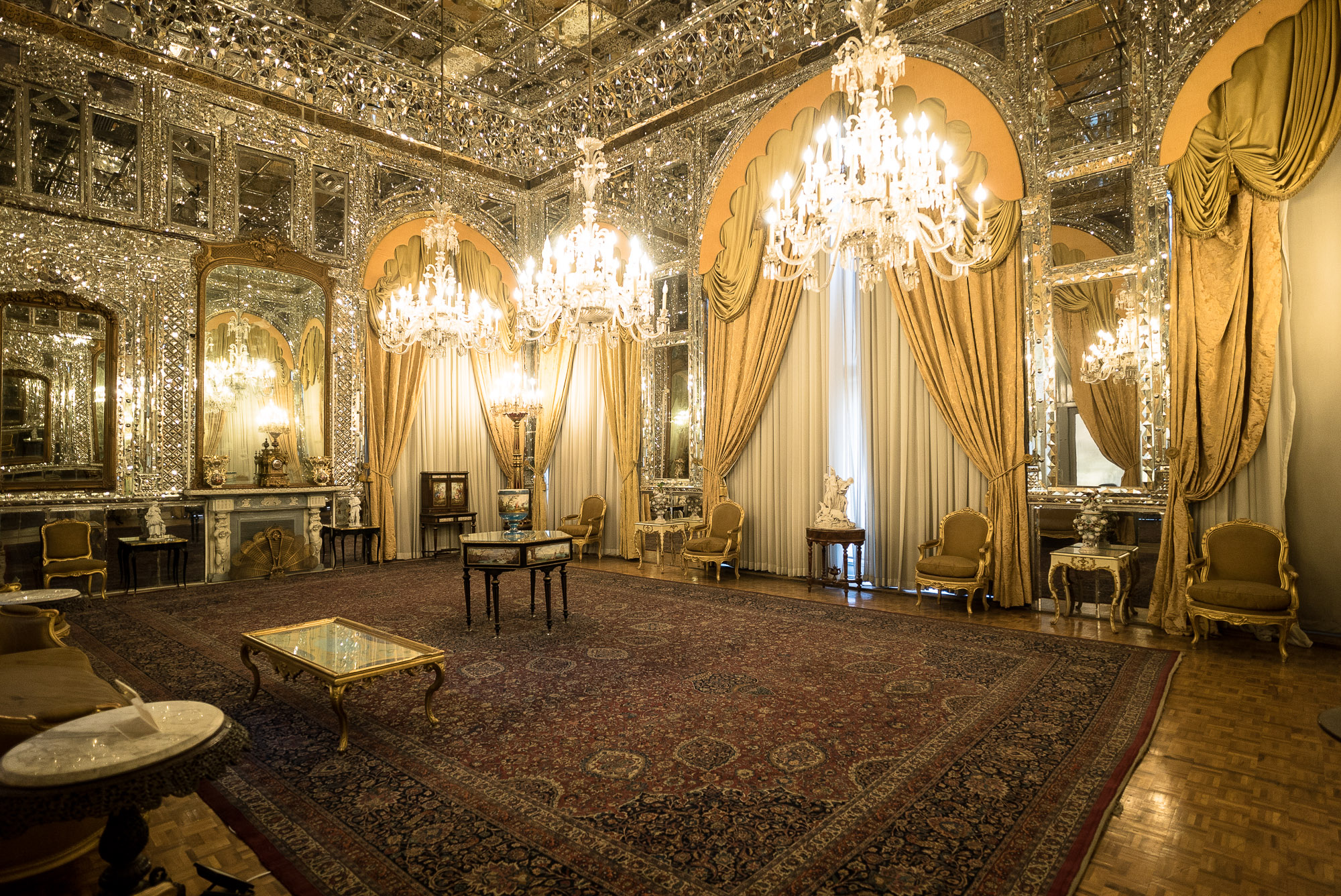 Golestan palace reception hall
