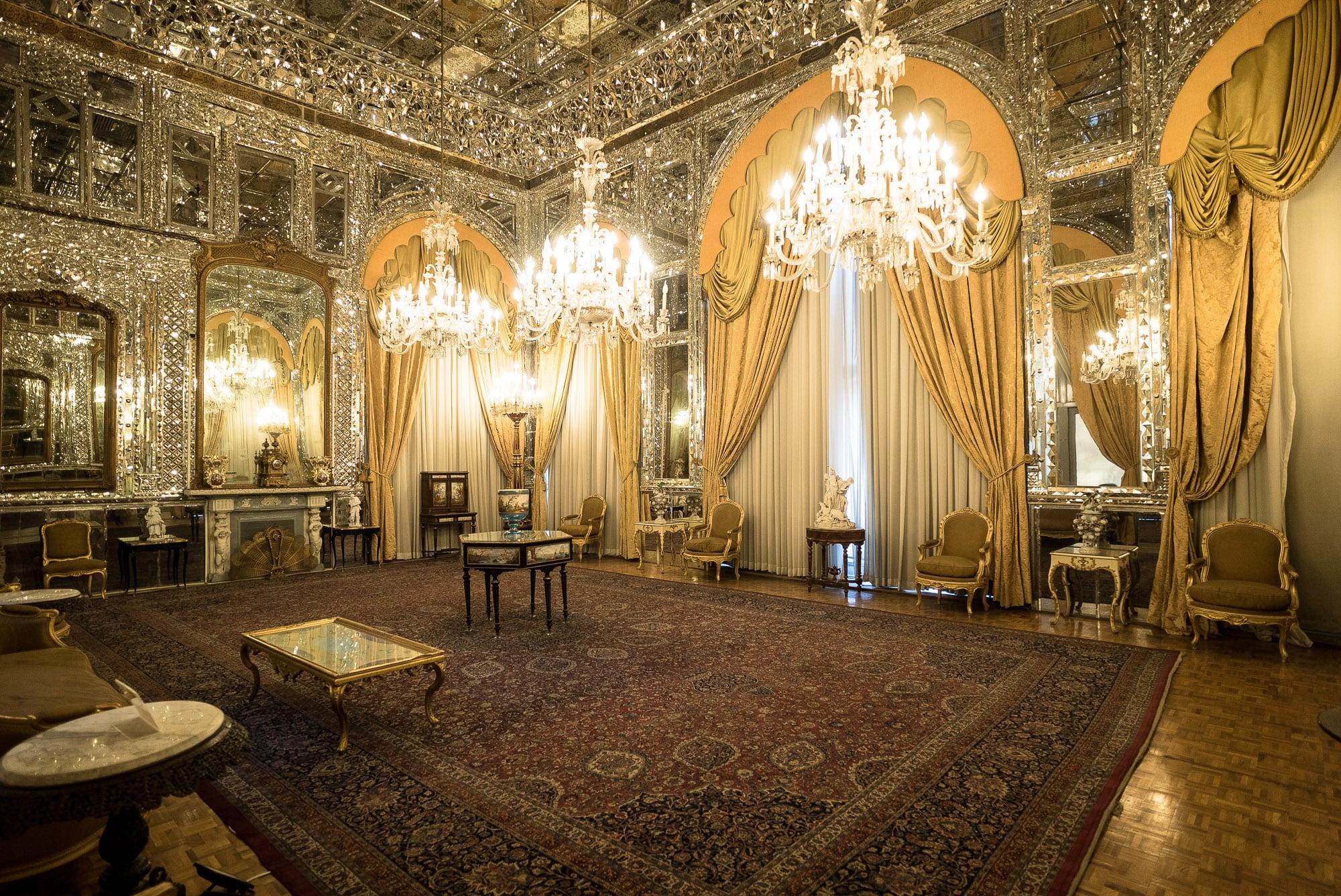 Golestan palace reception hall