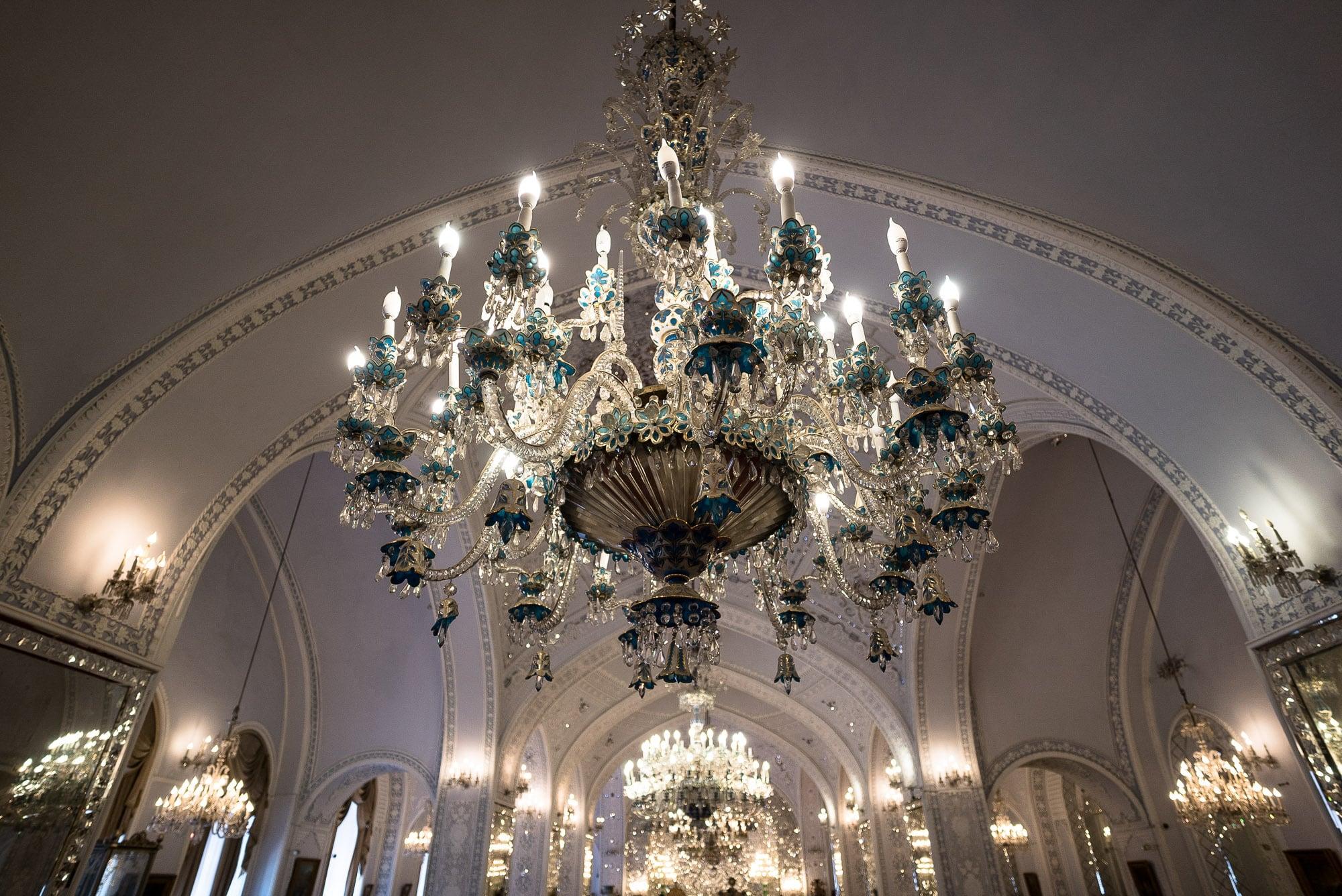 Golestan Palace chandelier