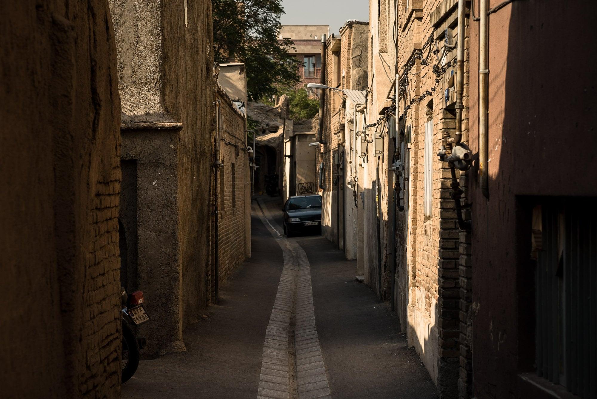alley in old Tehran