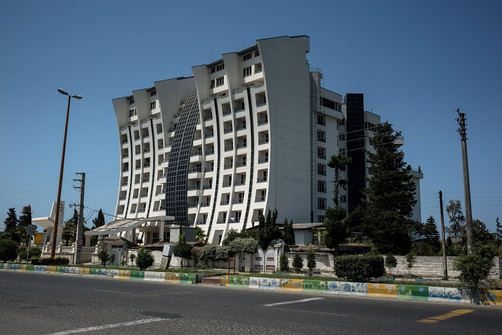 bent building