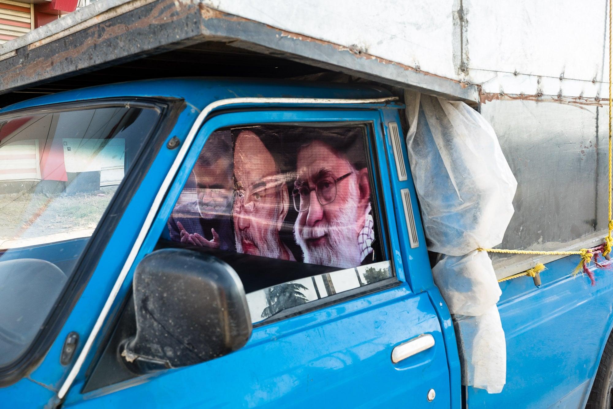Ayatollah in a car