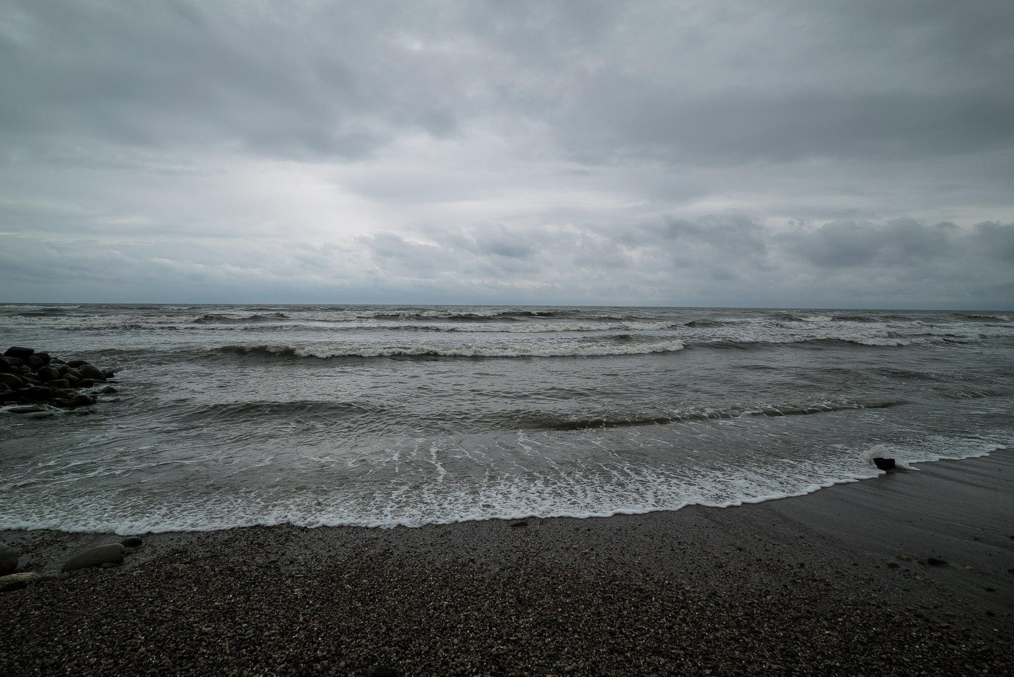 Caspian Sea in the morning