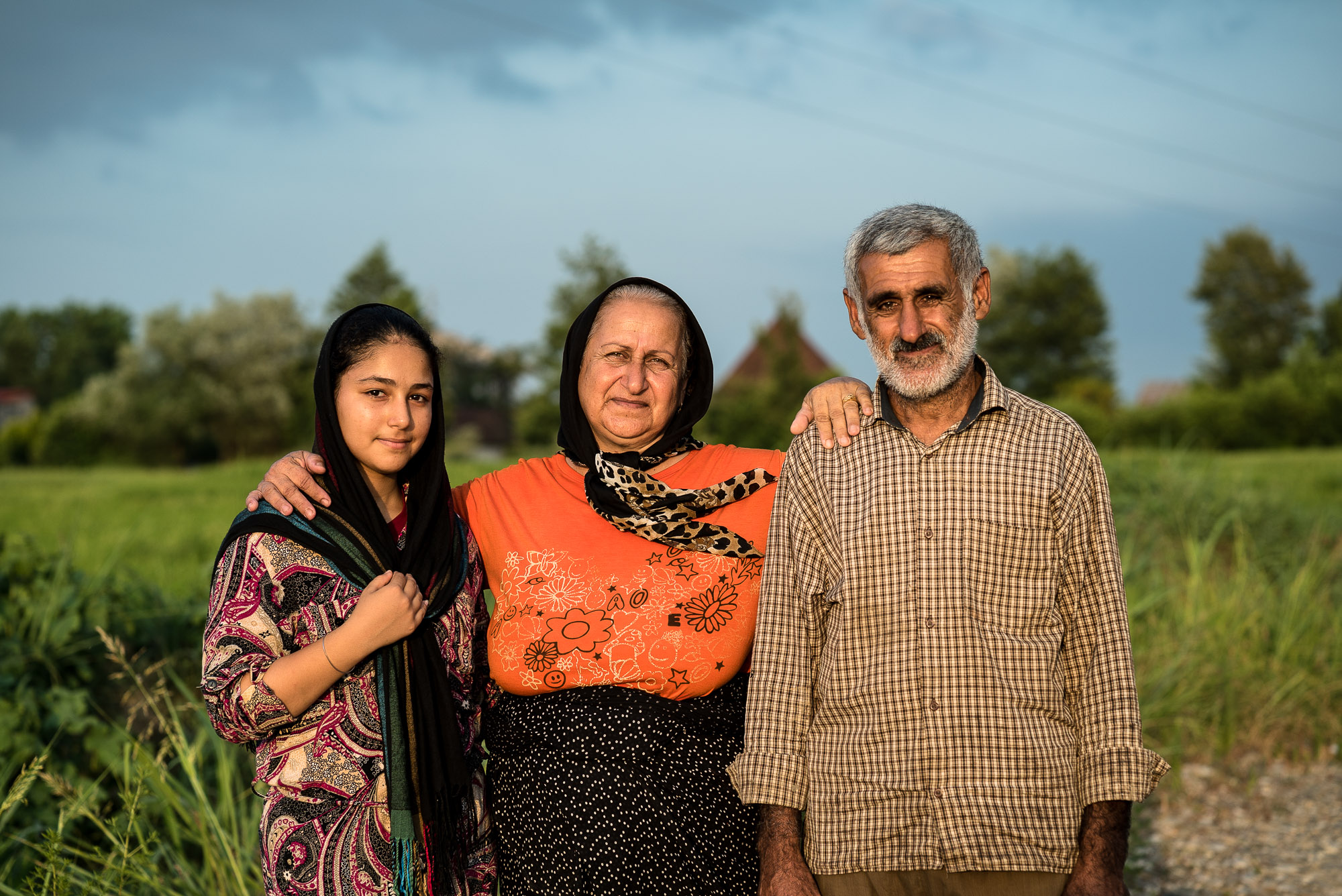 family in Gilan