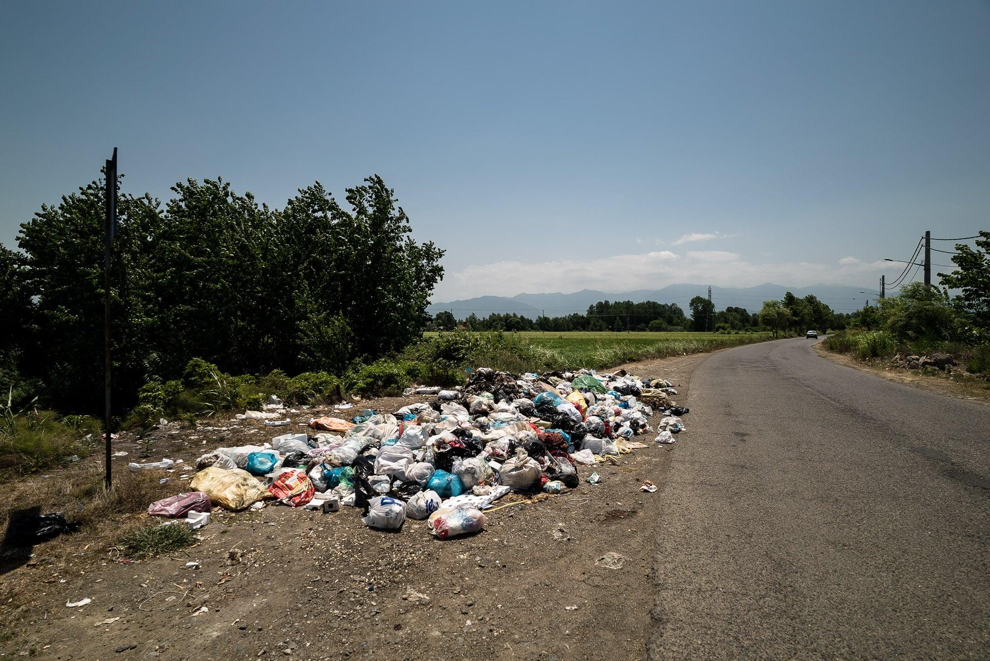 trash in Gilan