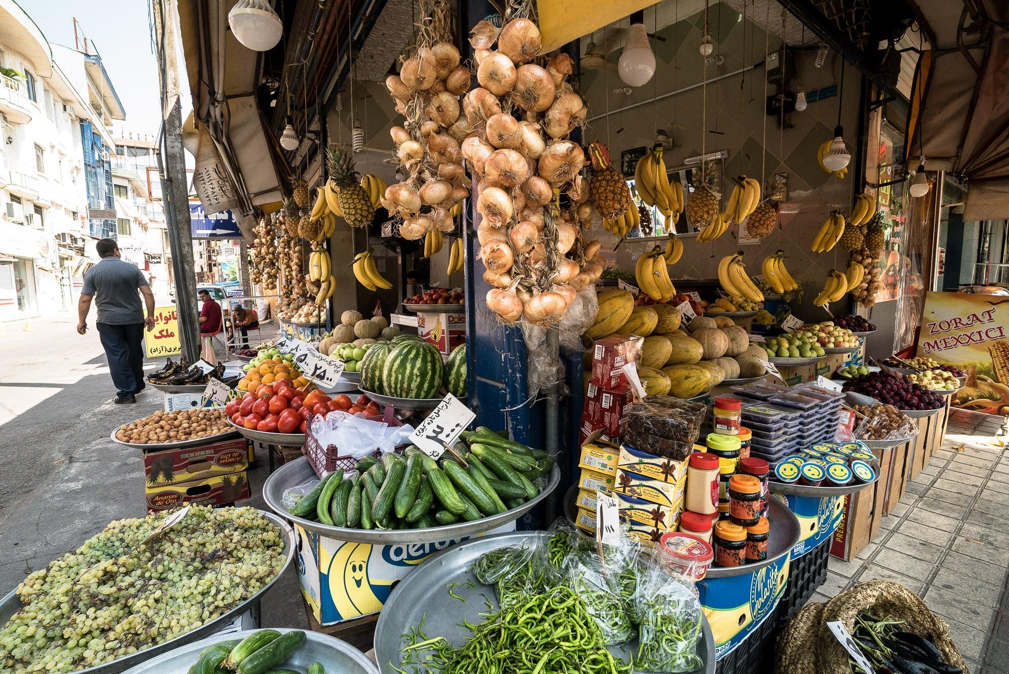 fruit shop in Lahijan