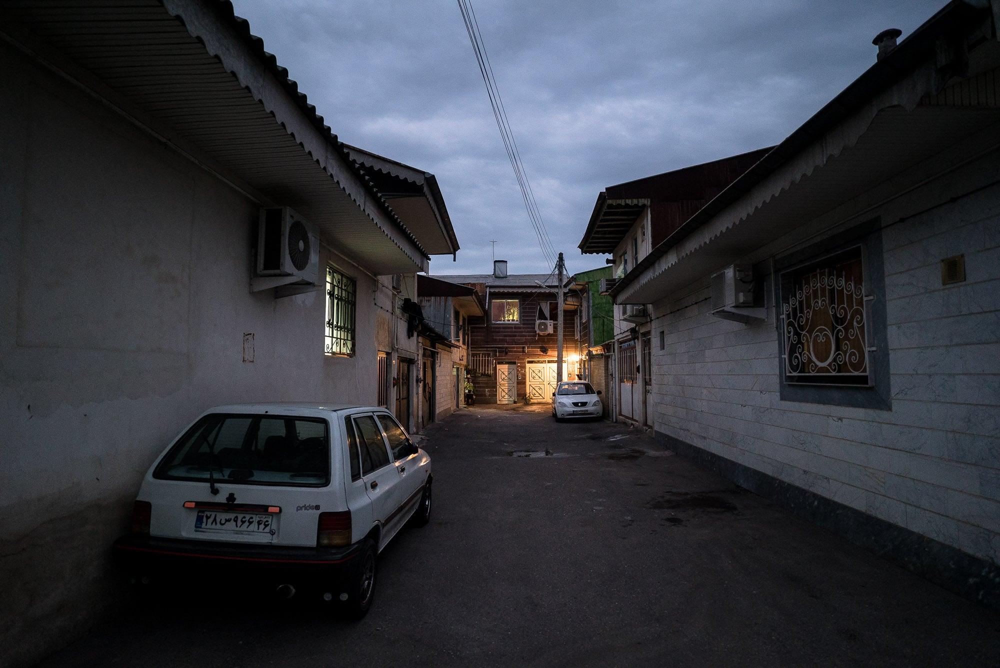back street in Rasht