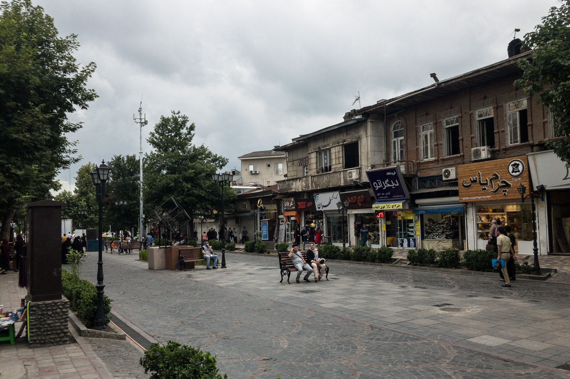 pedestrian zone in Rasht