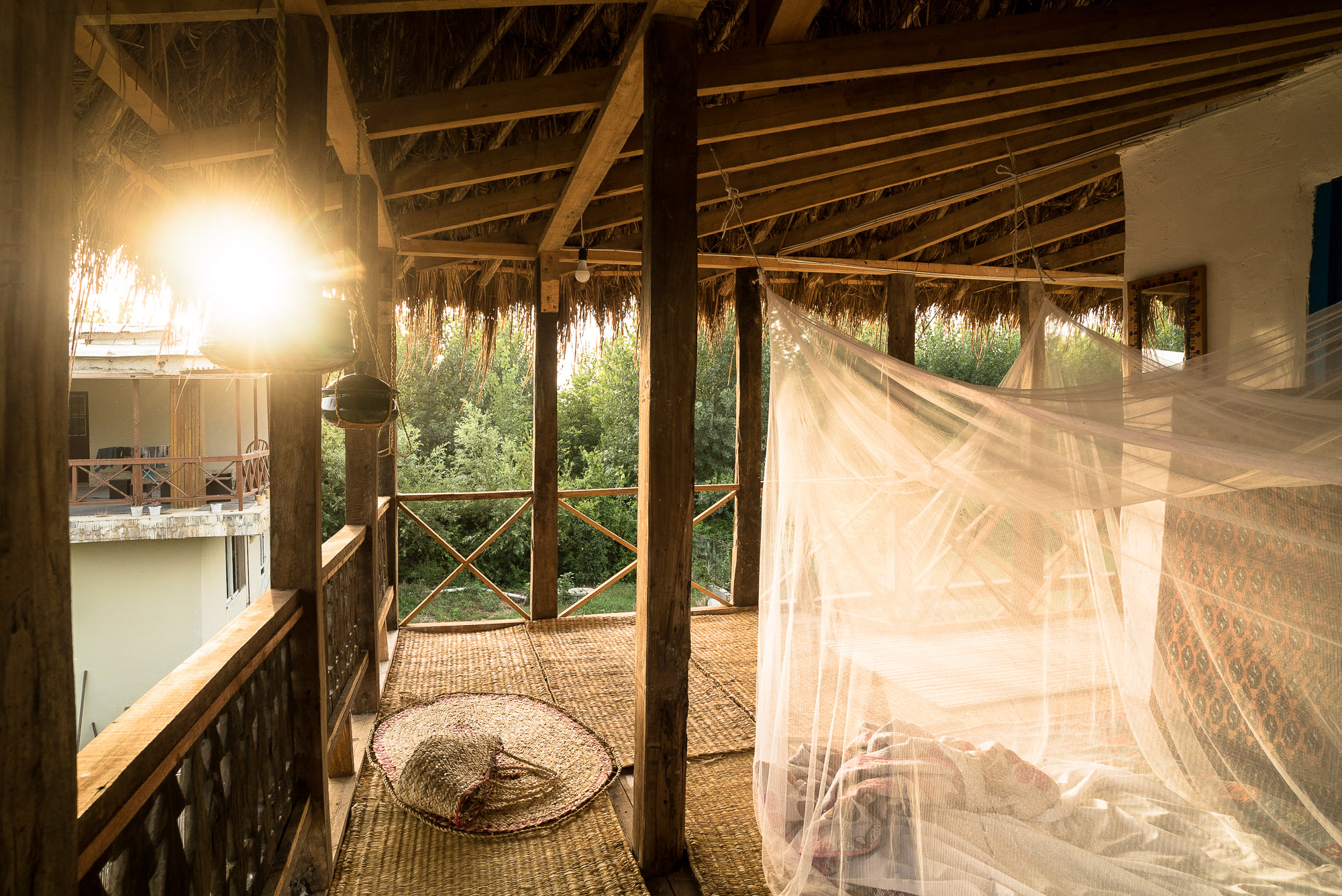 late afternoon in the Lotka Eco Lodge