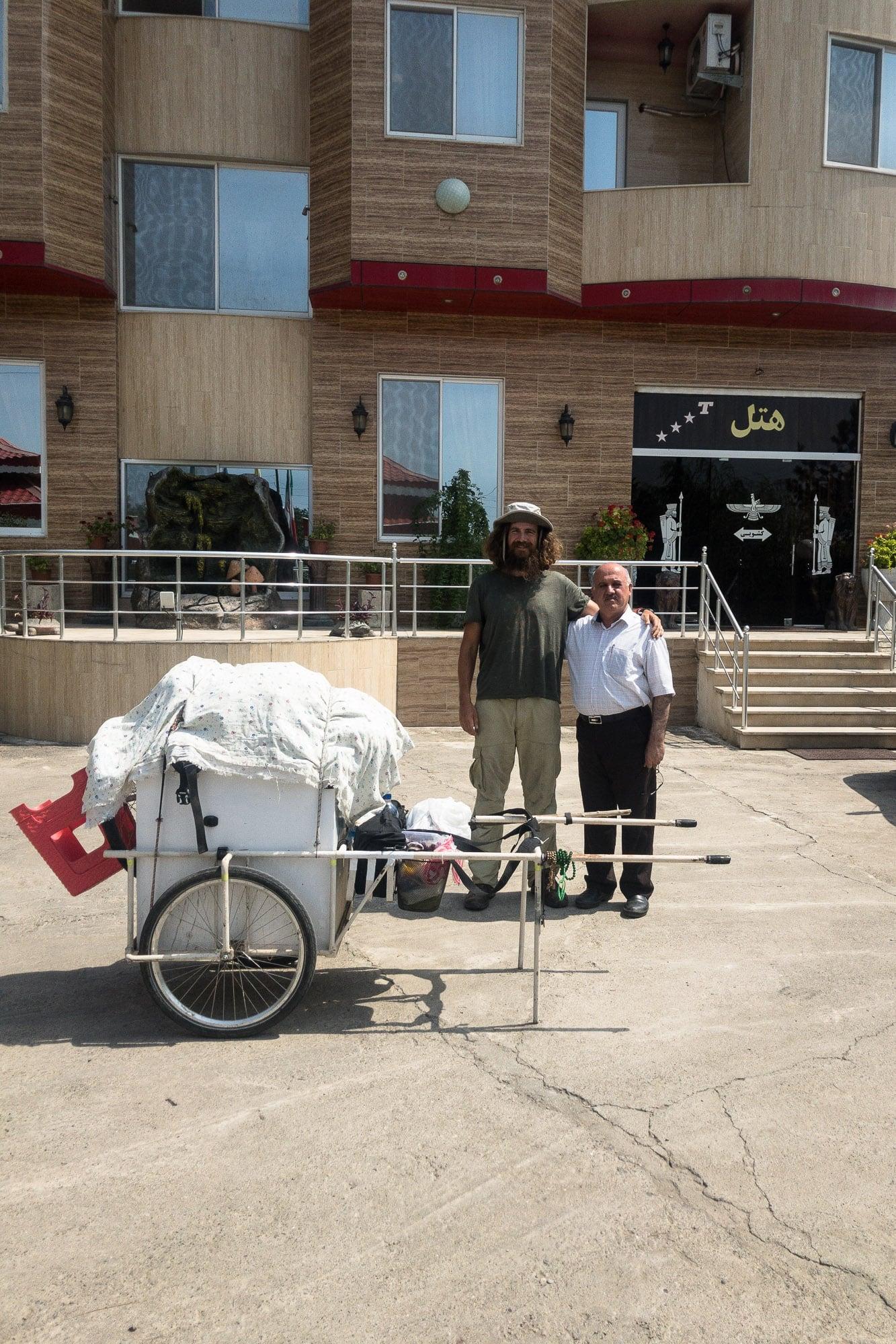 Persian hotel owner