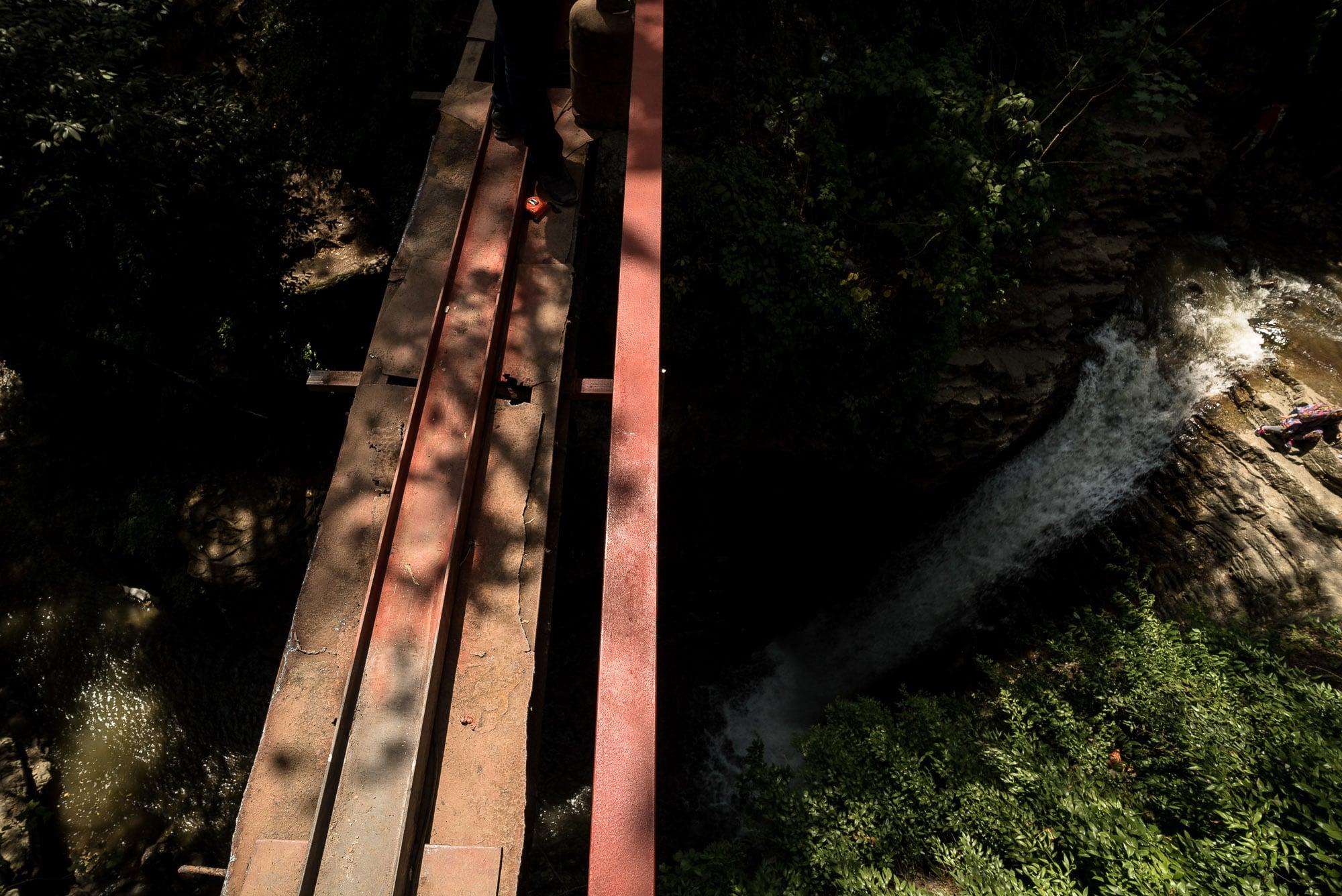 Visadar waterfall bridge