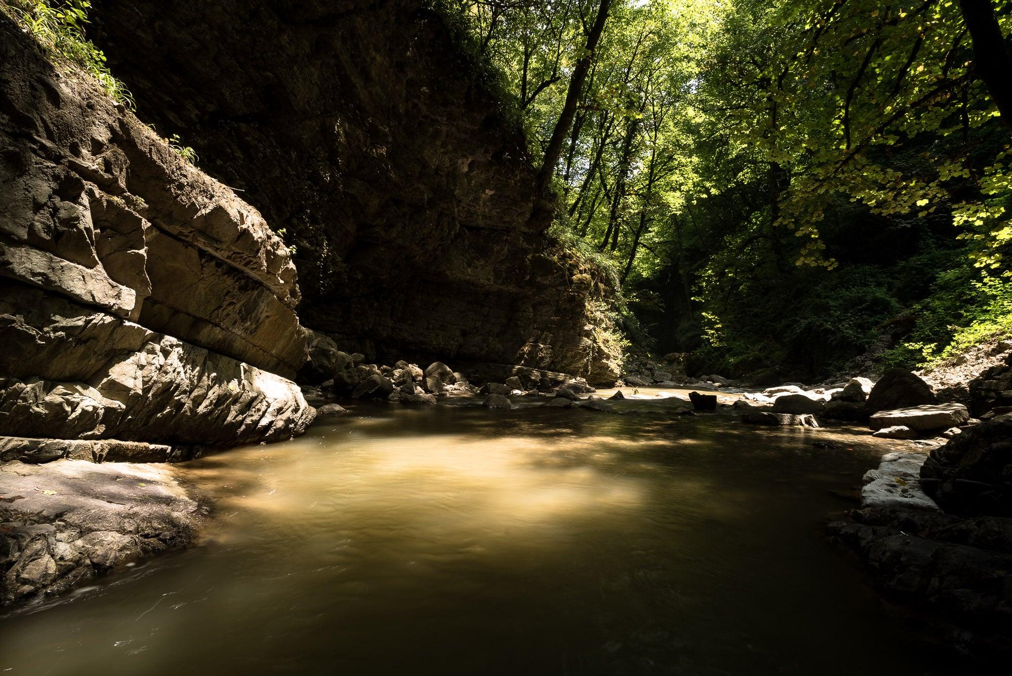 Visadar waterfall basin