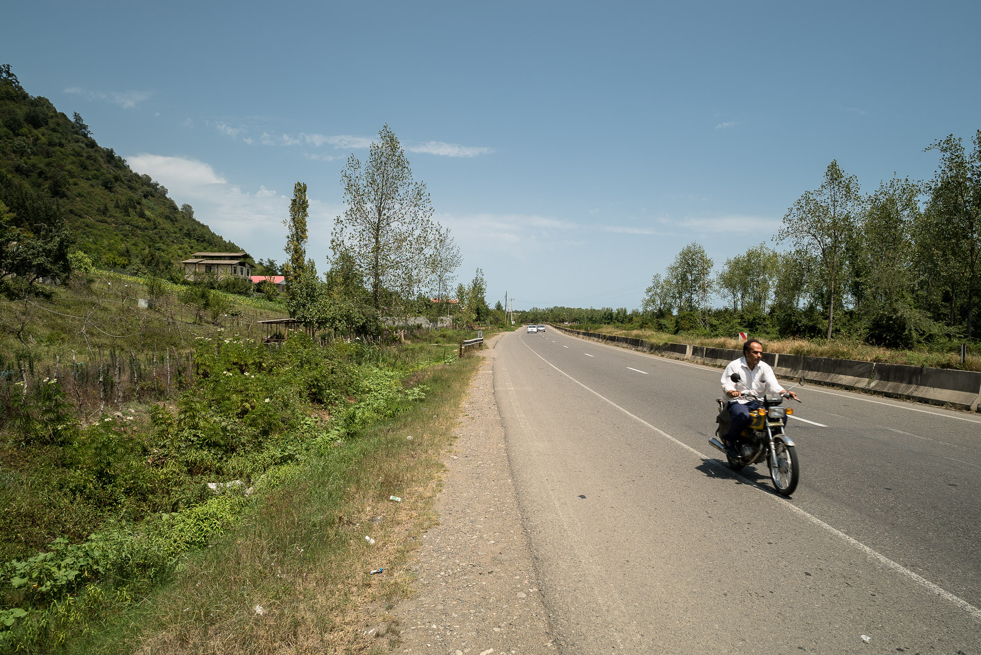 dude on motorcycle near Talesh