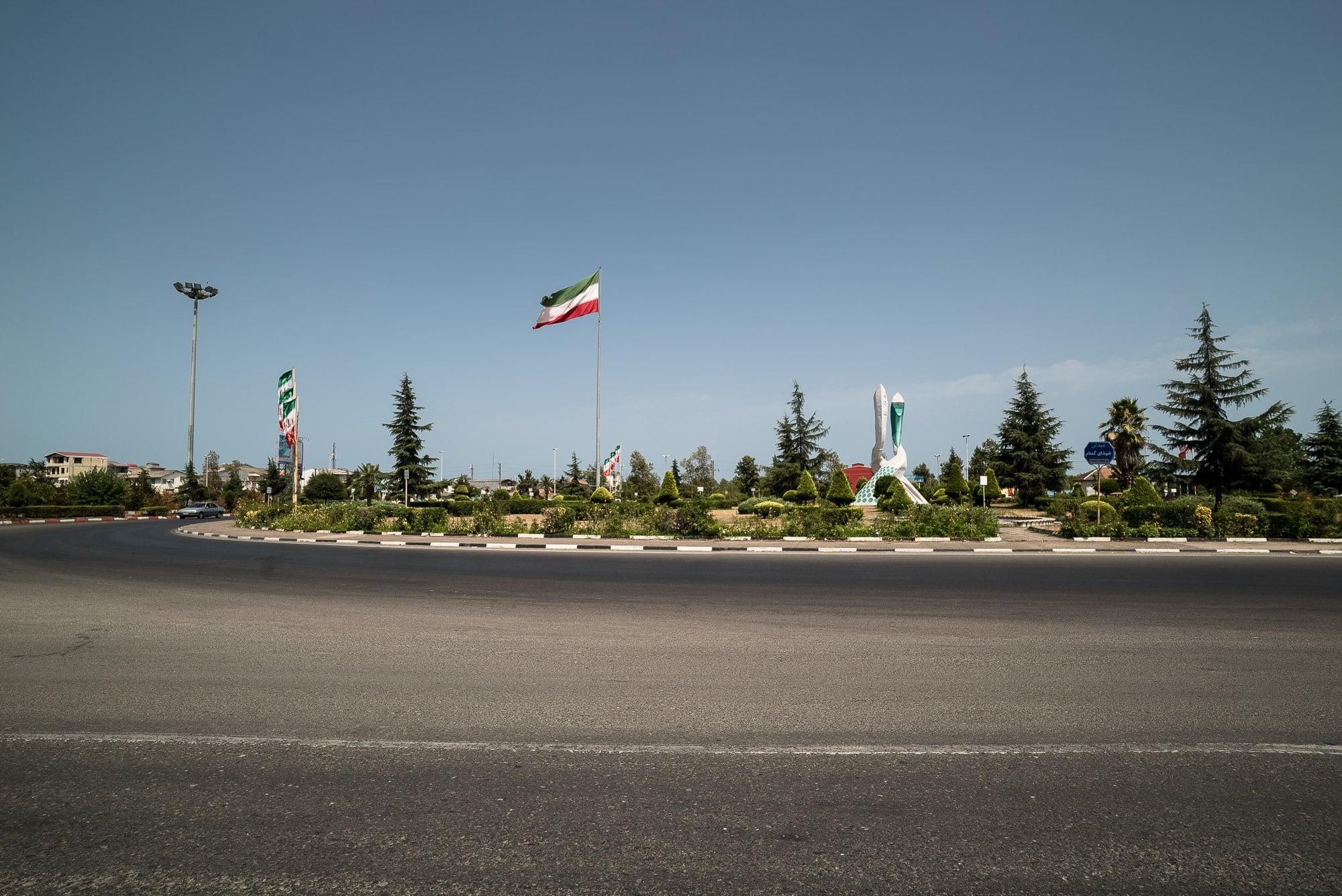 roundabout in Astara