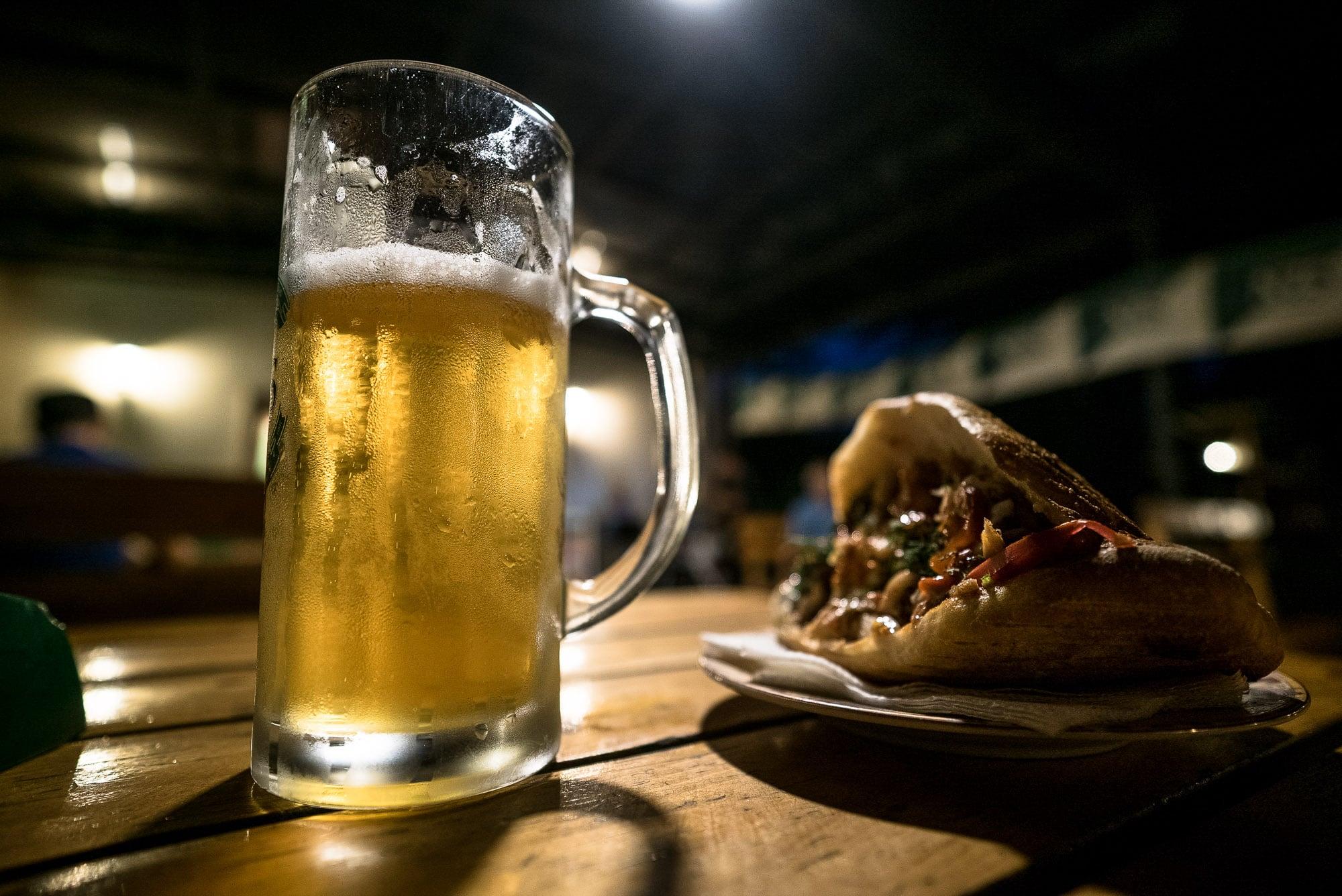 beer and döner