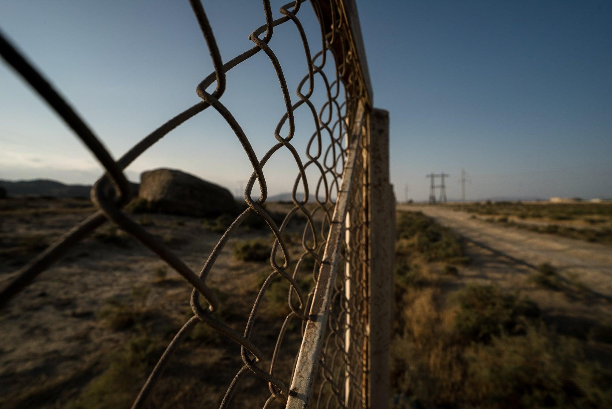 fence in the semi desert