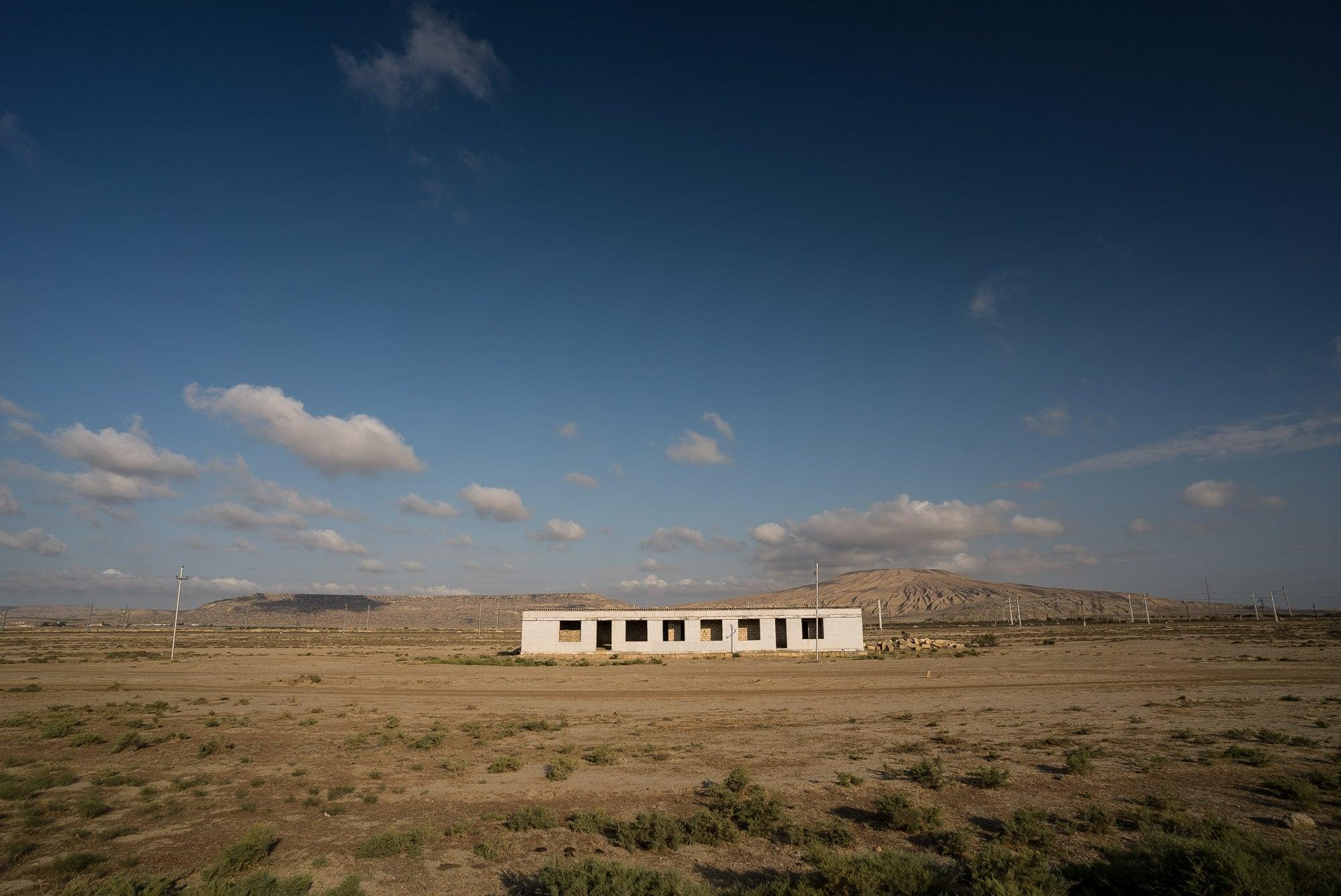 building in the semi-desert