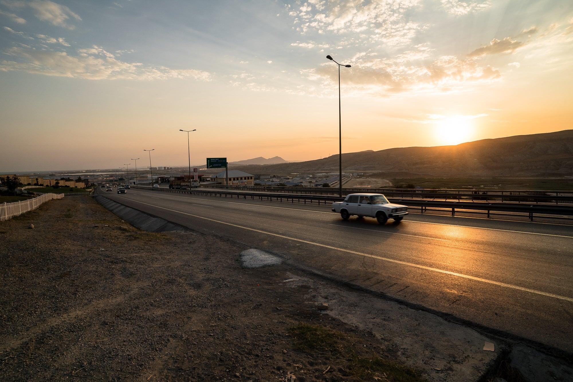 highway into Baku