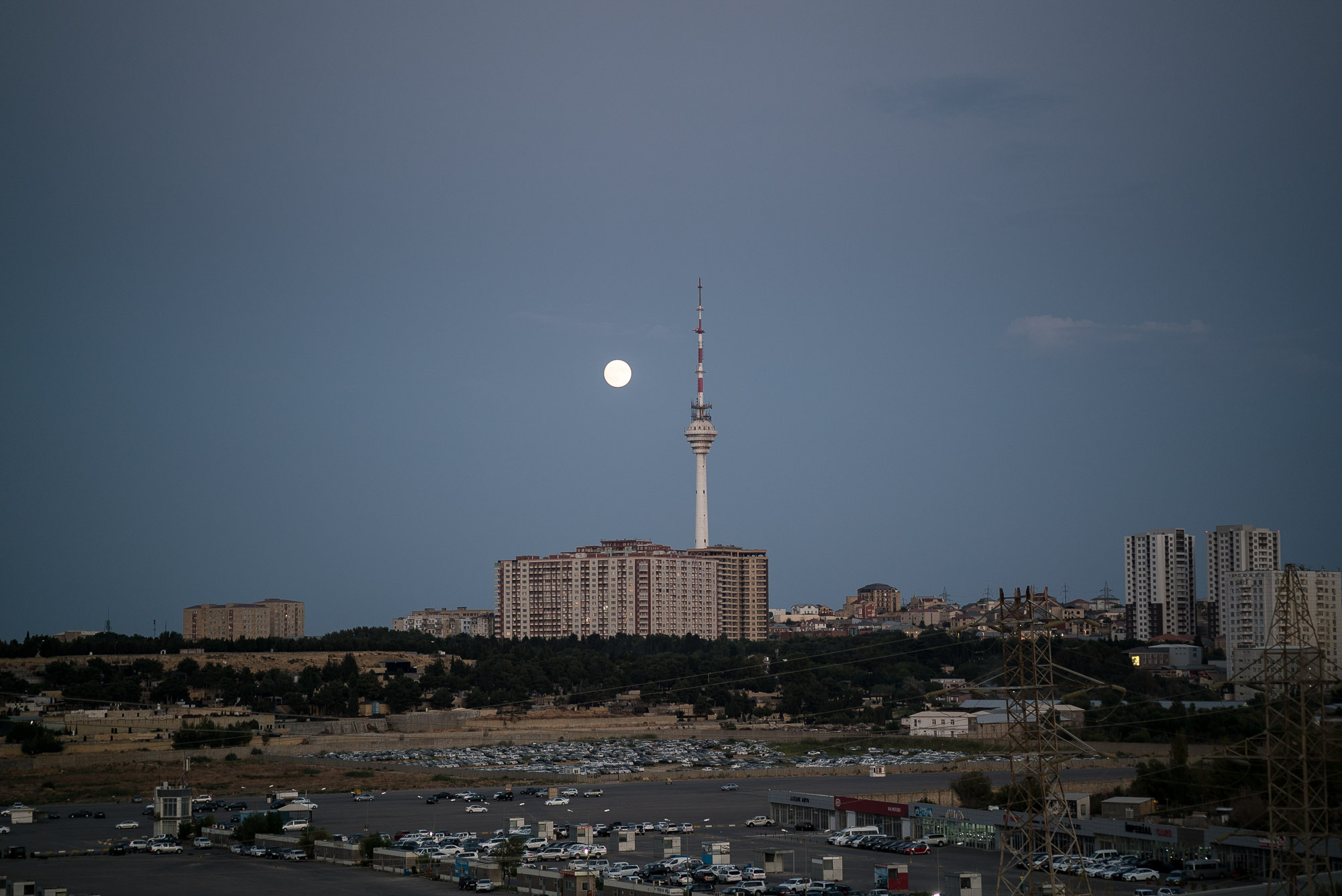 moon over Baku