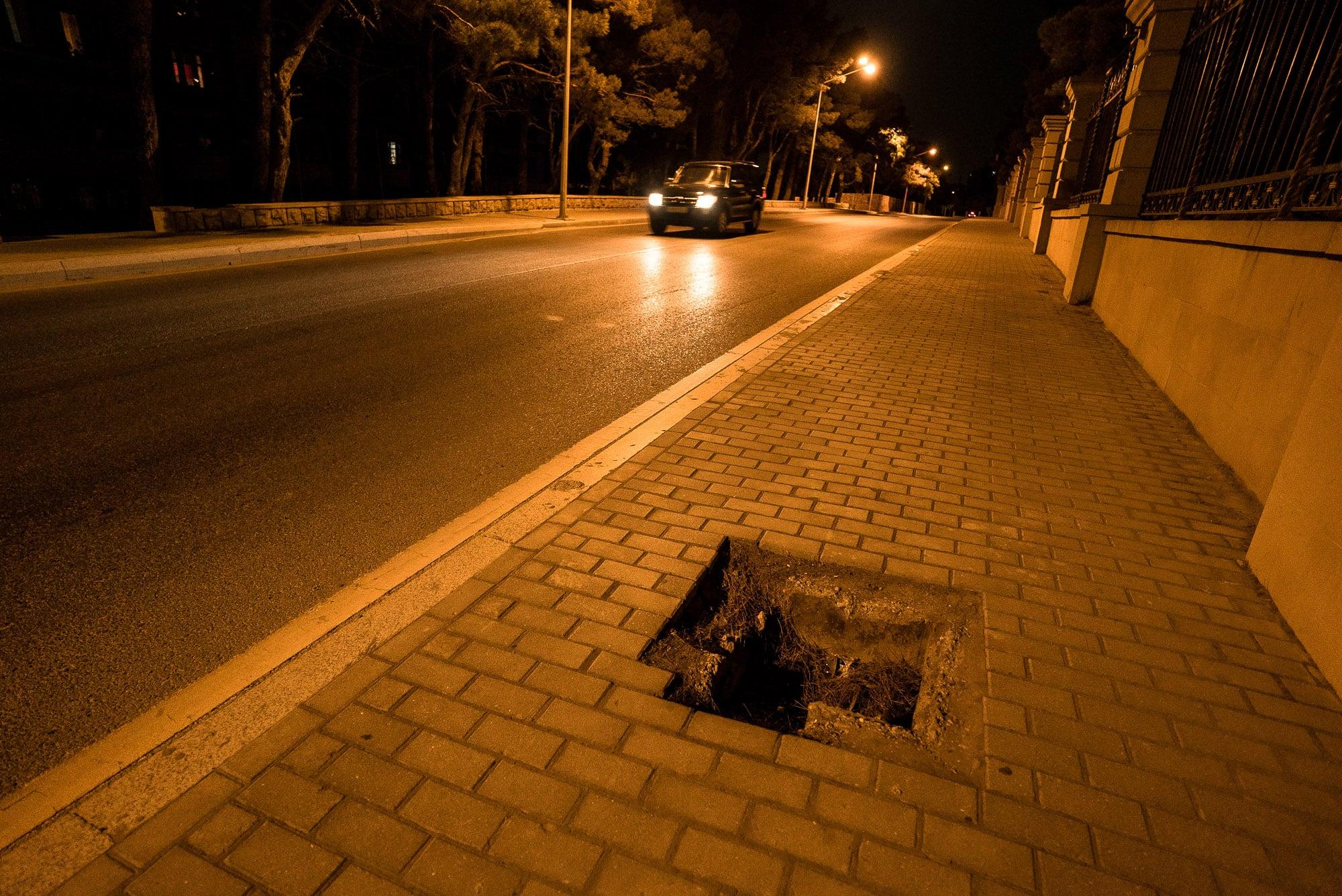 sidewalk in Baku
