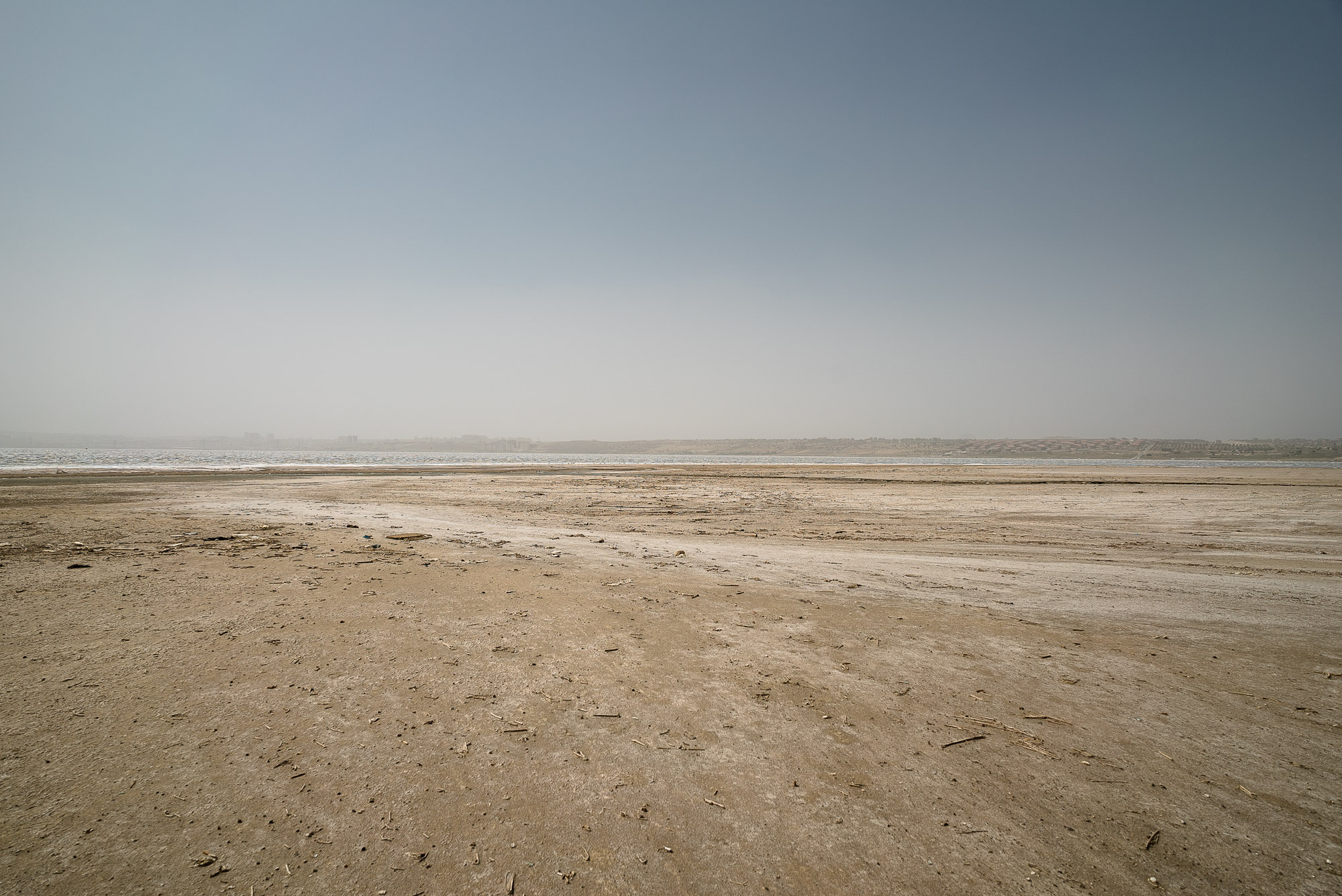 salt lake near Baku