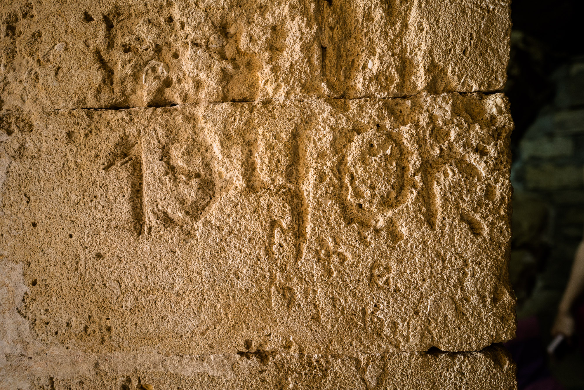 1940 graffito in Diri Baba Turbesi