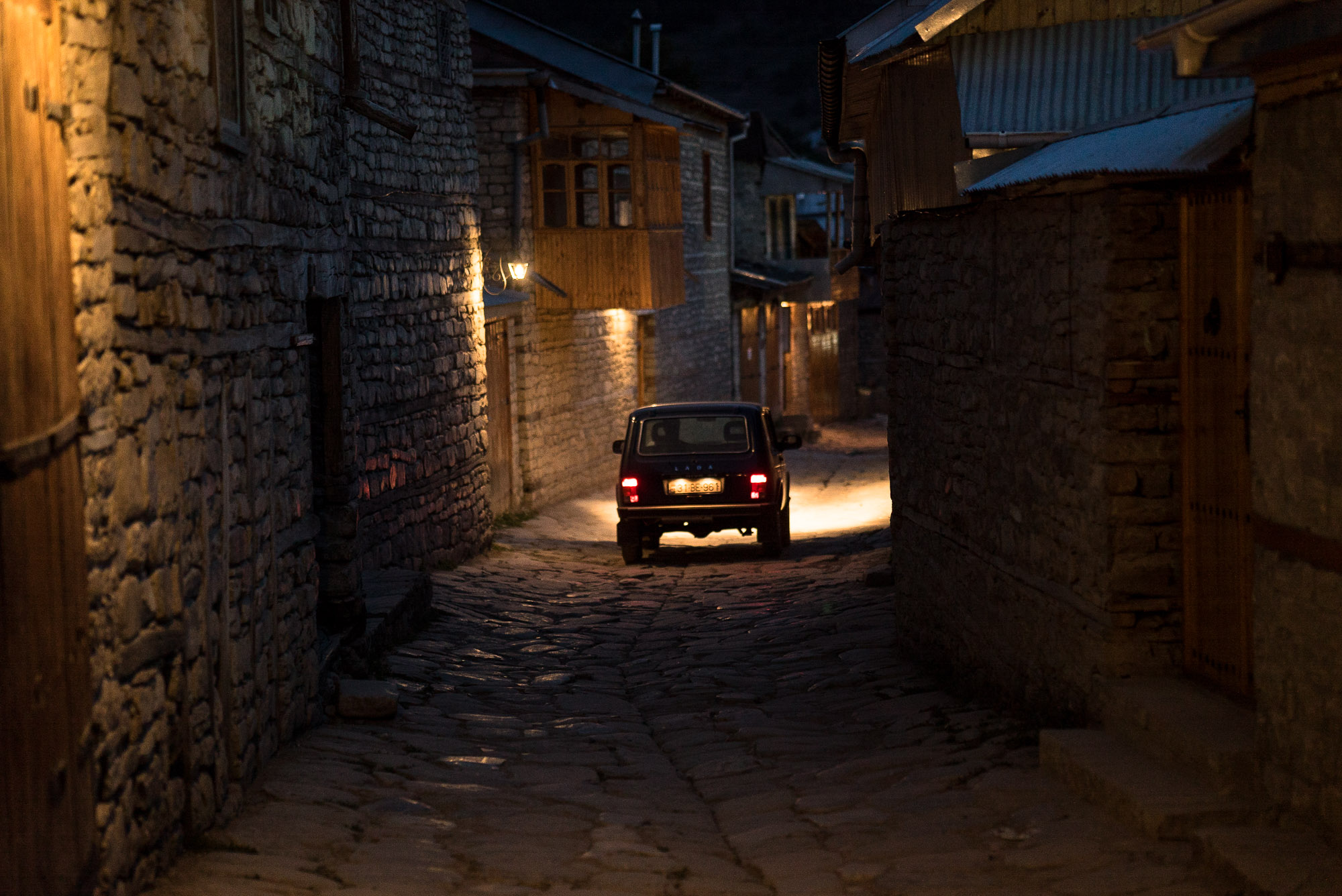 Lahij at night