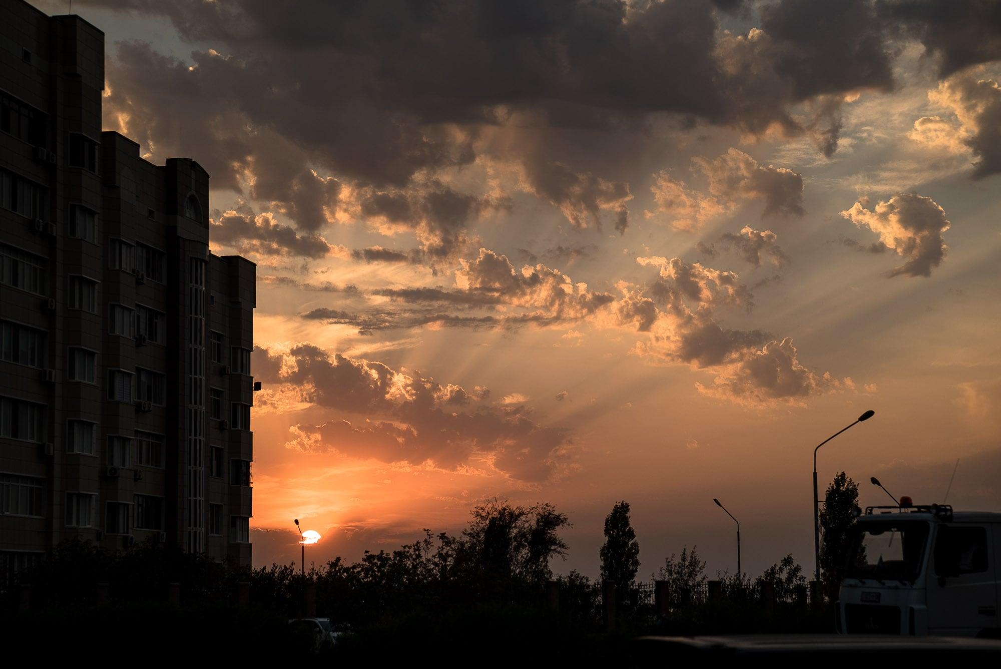 sunset in Aktau