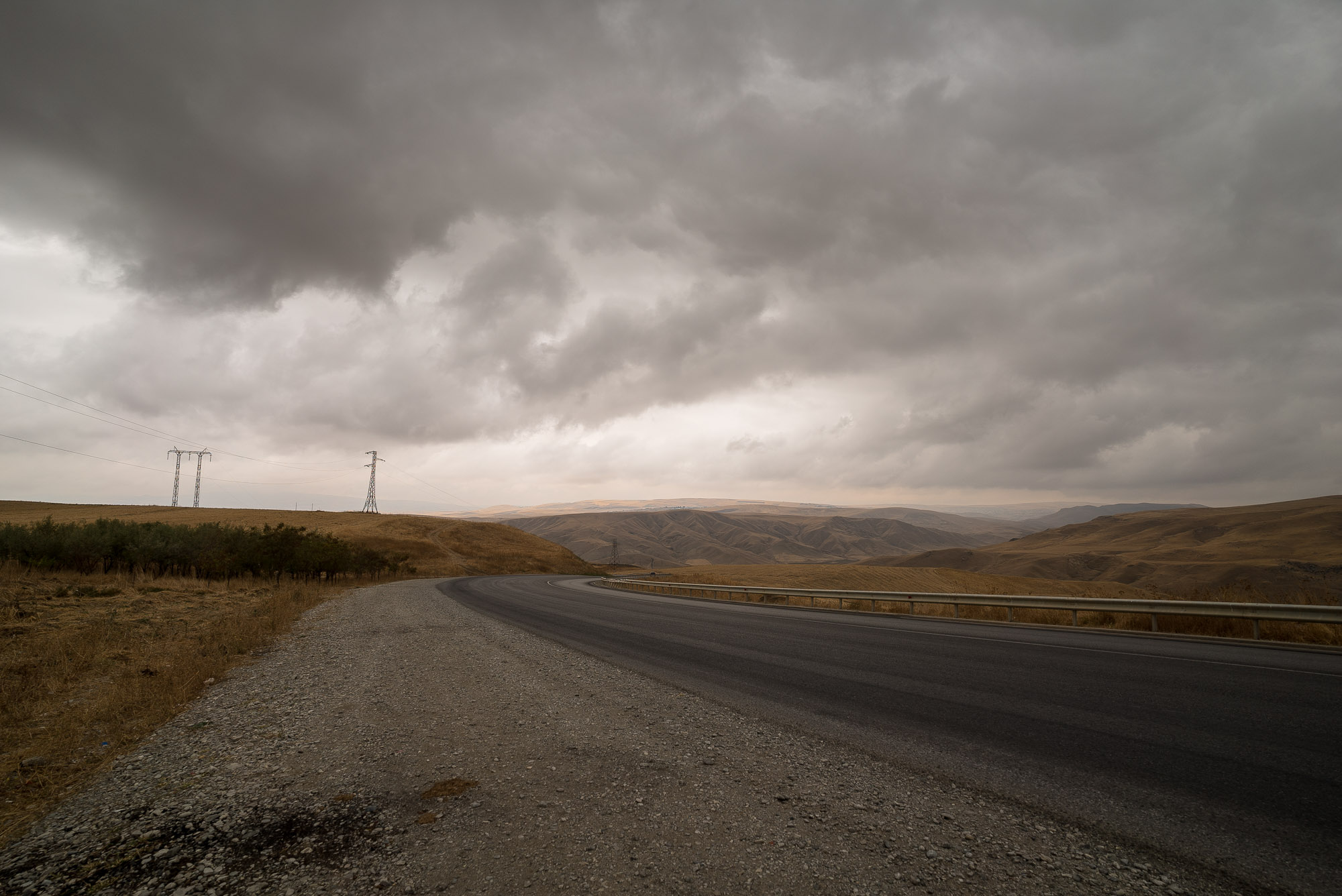 road with clouds