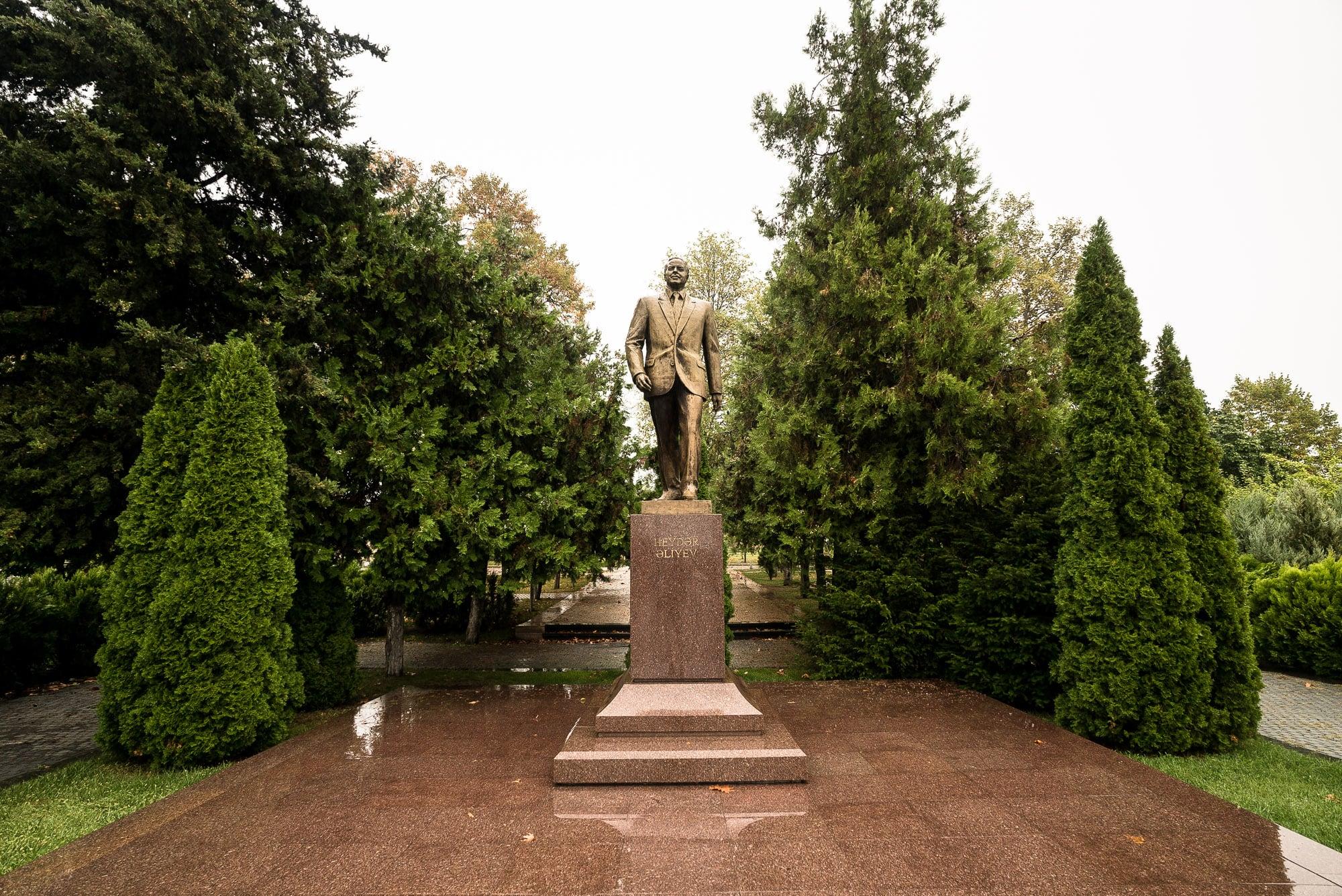 statue in Gabala
